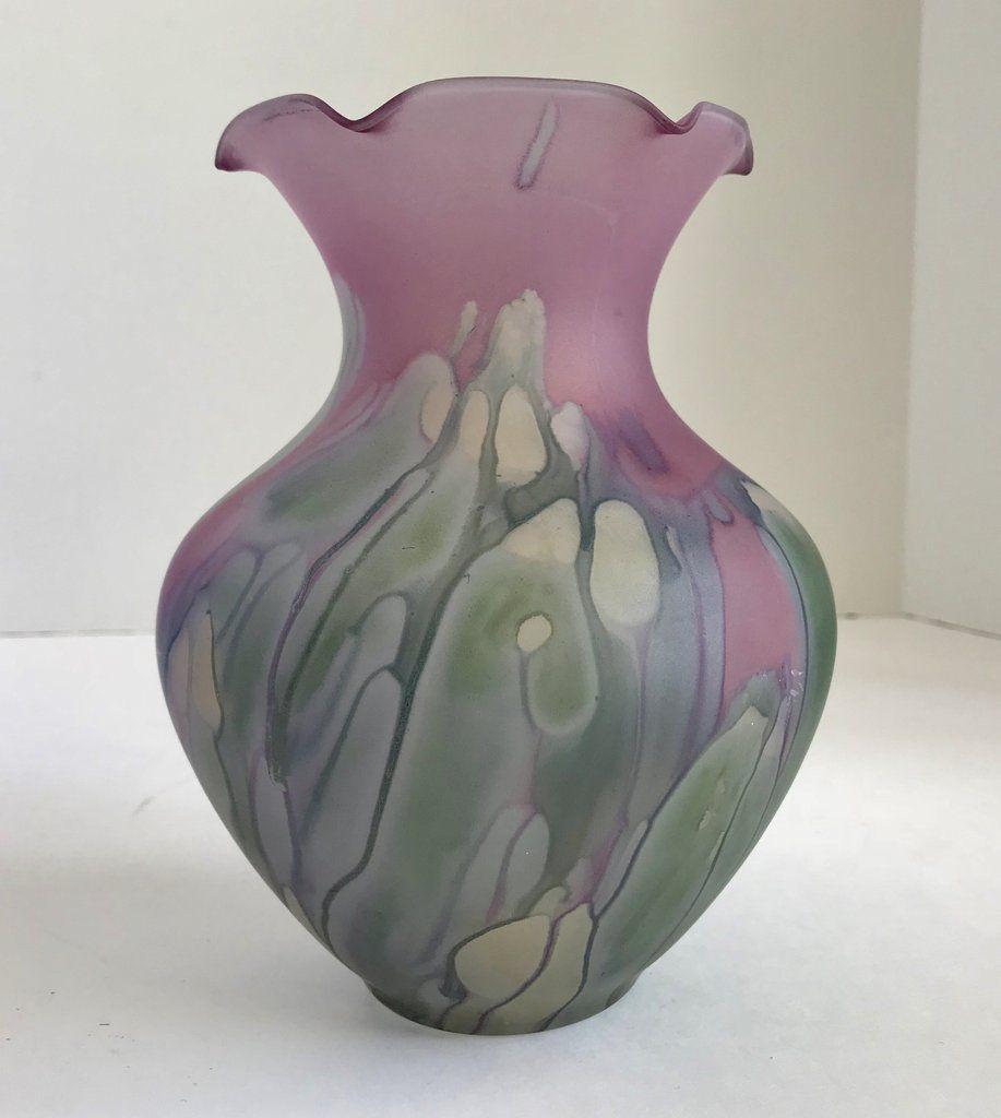 blenko handcraft vase of vintage rueven hand painted purple art glass 7 vase purple art with regard to vintage rueven hand painted purple art glass 7 vase