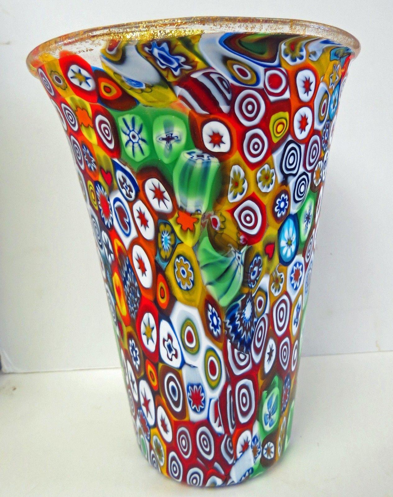 blown glass teardrop vases of murano art glass large gambaro poggi millefiori vase 375 00 with 2 of 8 murano art glass large gambaro poggi millefiori vase 3 of 8 murano art glass
