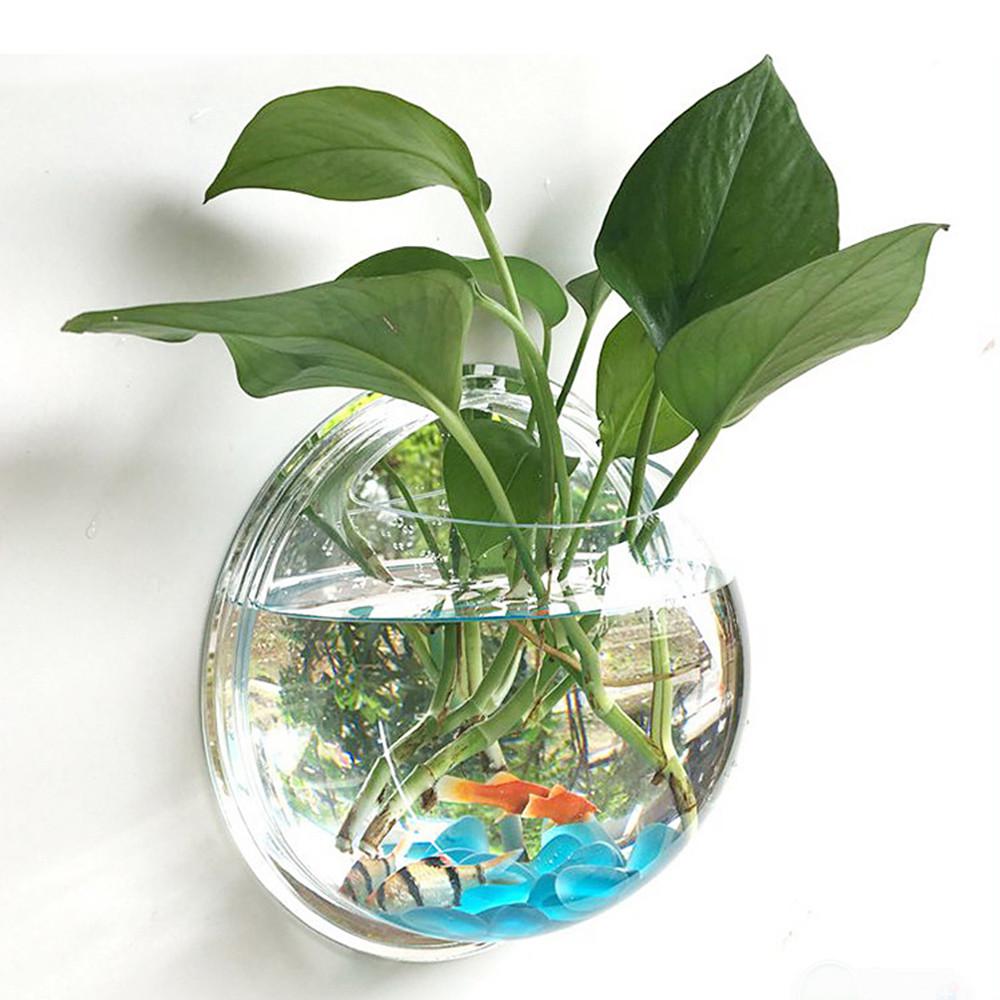 blown glass vase on wood of 2018 pot plant wall mounted hanging bubble bowl fish tank aquarium inside new pot plant wall mounted newest hanging bubble bowl flowers fish tank home decor aquarium home