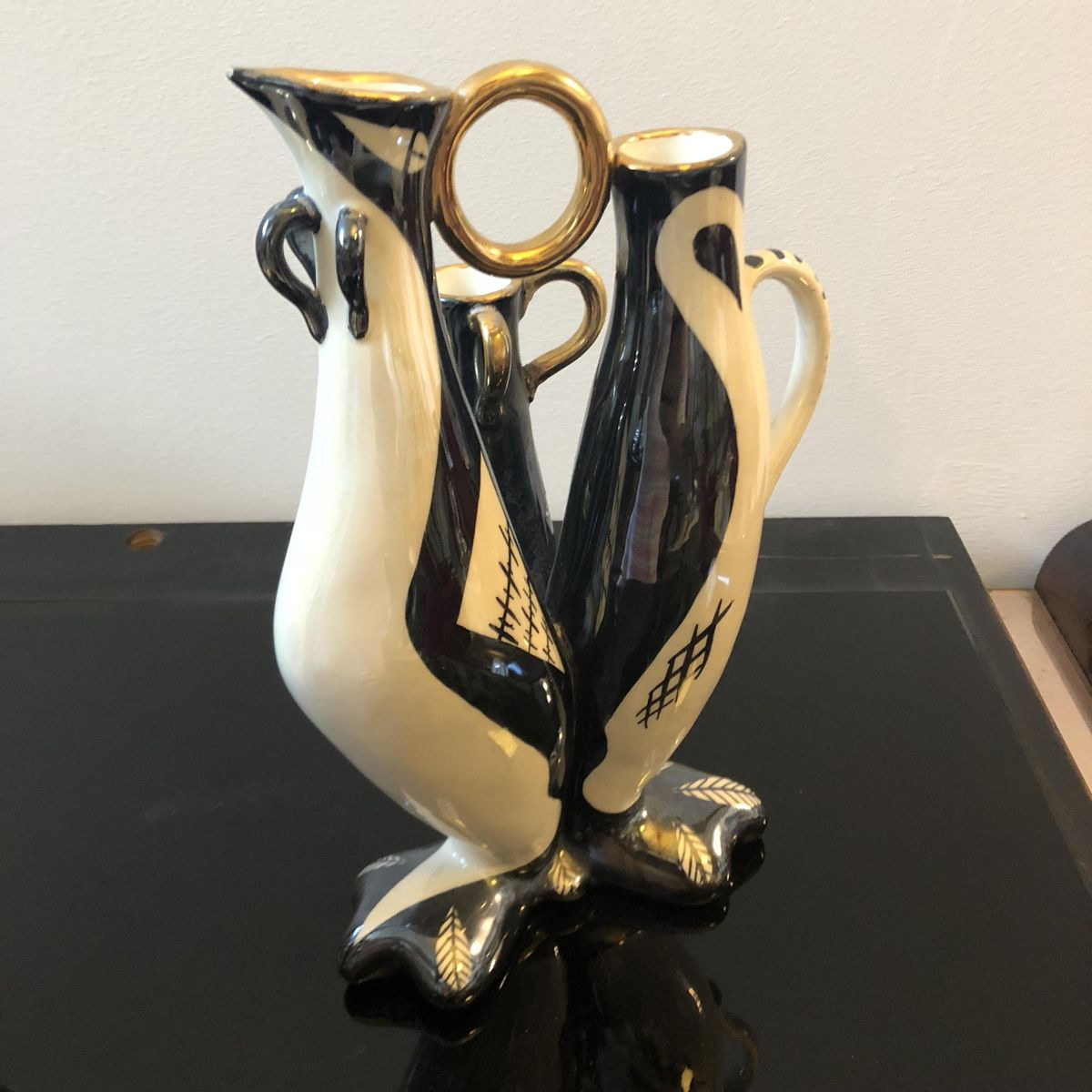 blown glass vases made in italy of italian black and white ceramic vases by g girardi 1950s set of 2 with regard to price per set