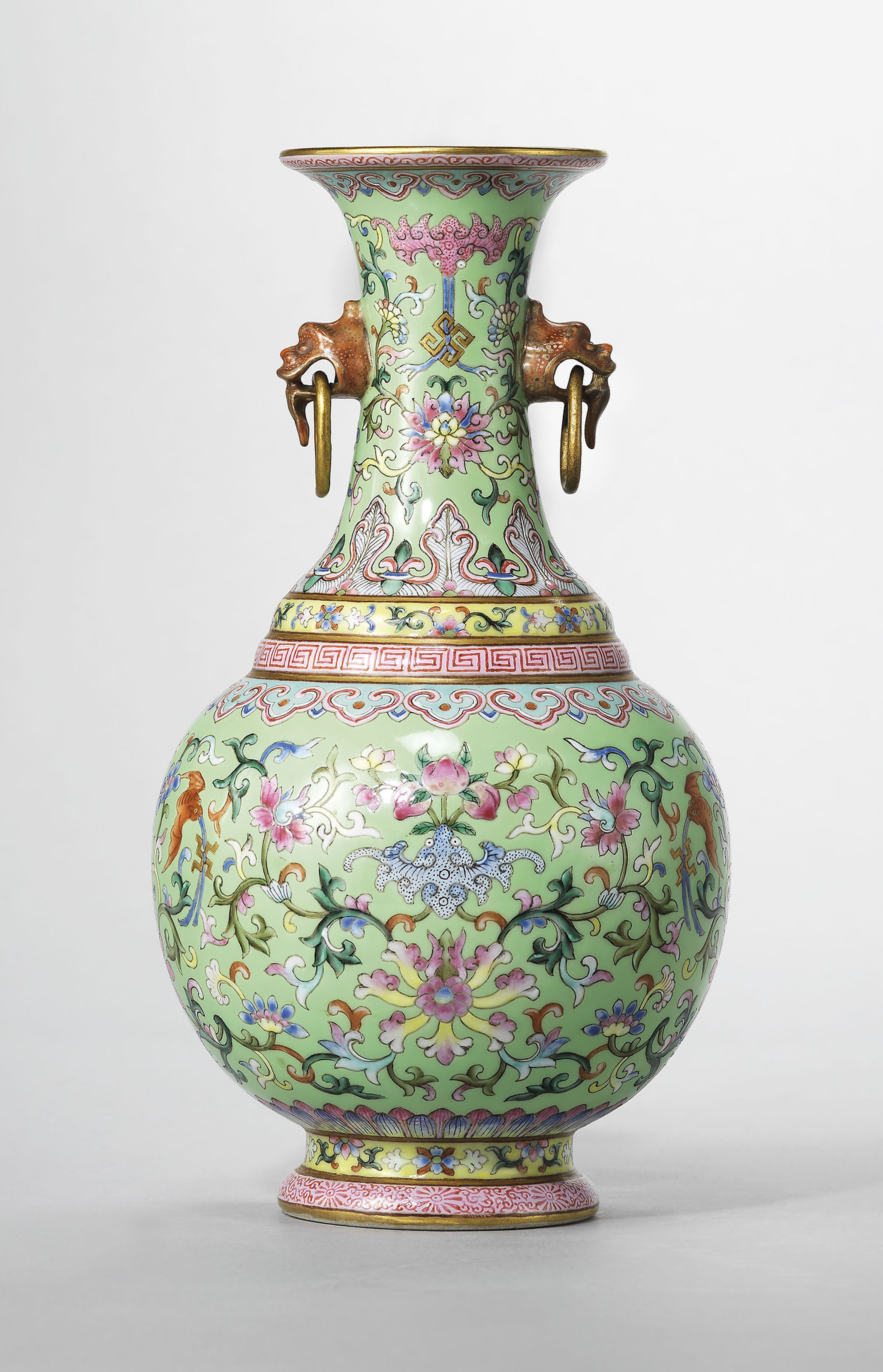 blown glass vases wholesale of 20 inspirational antique decorative glass vases pertaining to a lime green ground famille rose twin handled vase jiaqing six character