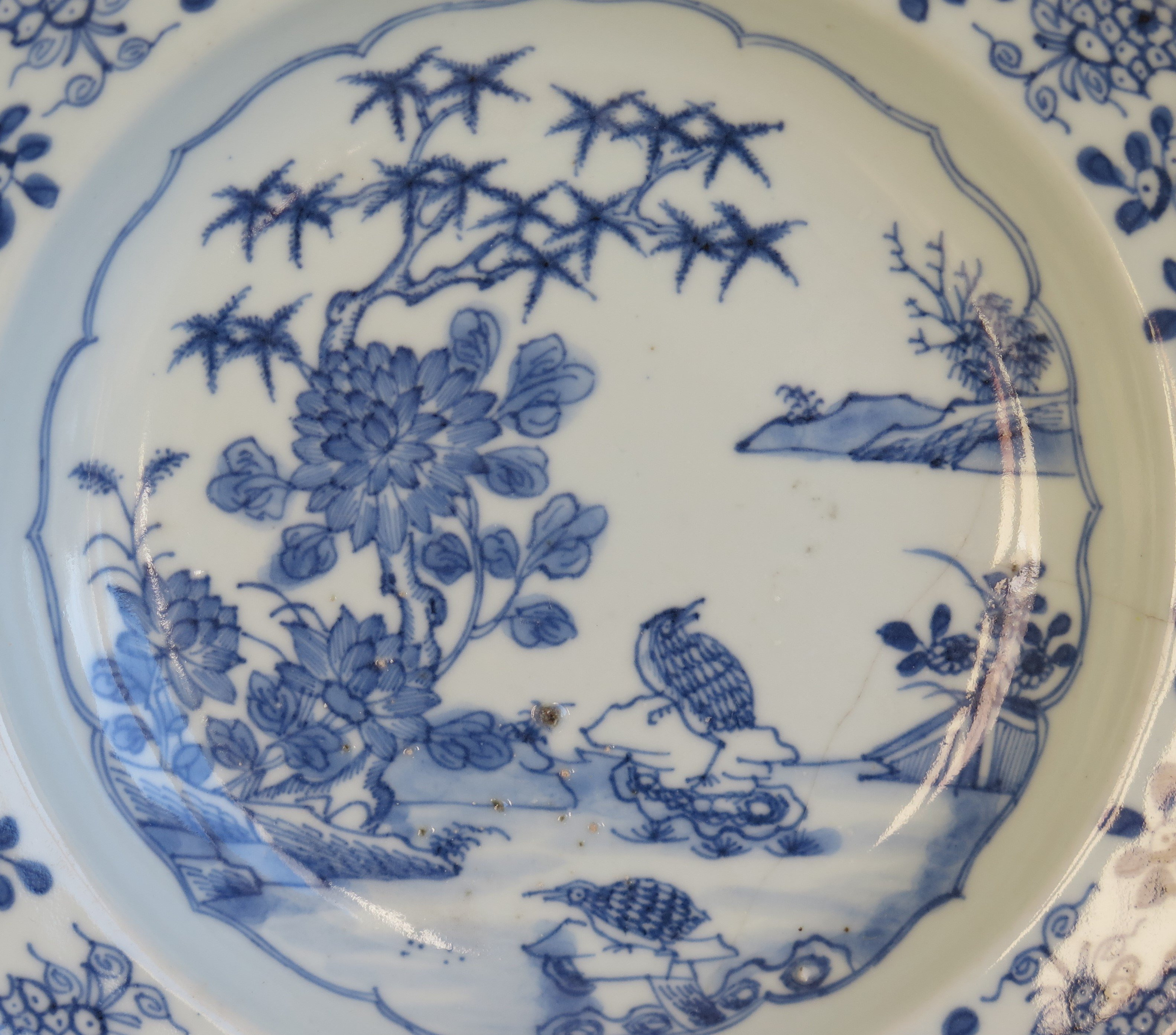 blue and white asian vase of chinese porcelain plate or bowl blue and white woodland birds pertaining to chinese porcelain plate or bowl blue and white woodland birds circa 1770 at 1stdibs