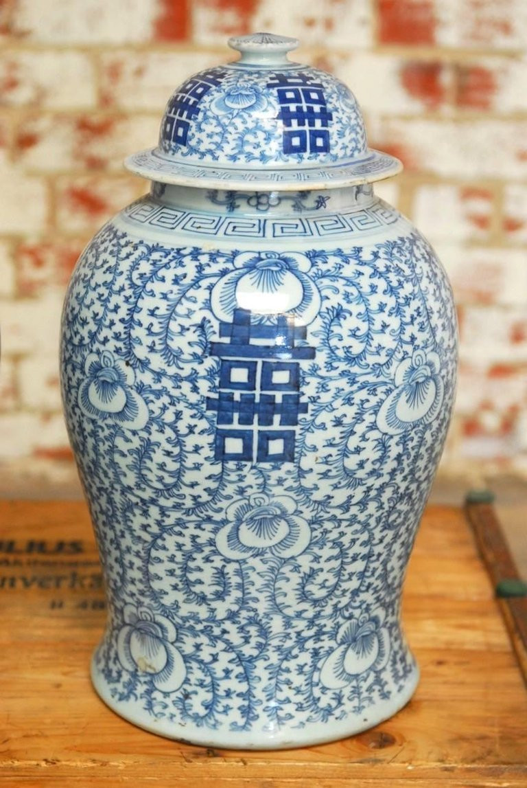 blue and white asian vase of pair of chinese qing blue and white porcelain ginger jar vases in pair of chinese qing blue and white porcelain ginger jar vases