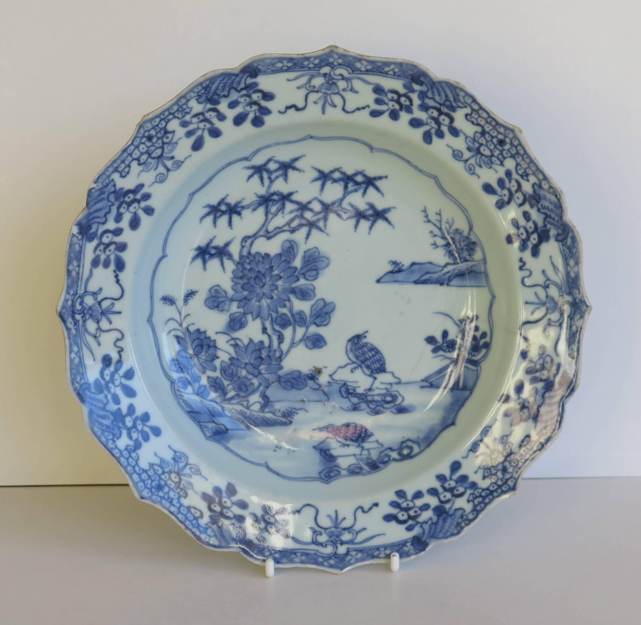 Blue and White Chinese Vase Of Chinese Porcelain Plate or Bowl Blue and White Woodland Birds Regarding Chinese Porcelain Plate or Bowl Blue and White Woodland Birds Circa 1770 at 1stdibs