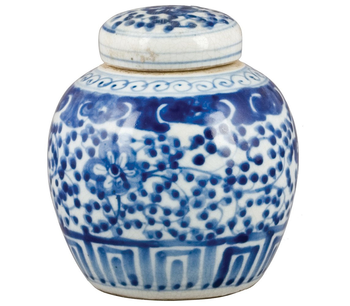 blue and white chinese vases cheap of small blue and white chinese porcelain ginger jar the pink pagoda regarding blue and white melon jar with flower and vine motif ceramic od the