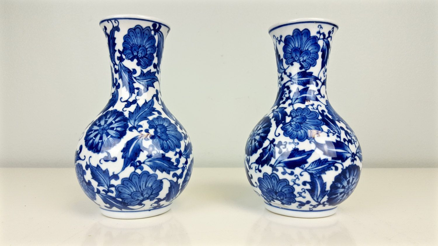 blue and white floral ceramic vase of pair cobalt white floral chinese vases cobalt blue and white bud in pair cobalt white floral chinese vases cobalt blue and white bud vases bombay china cobalt blue vases classic blue white decor by curioboxx on etsy