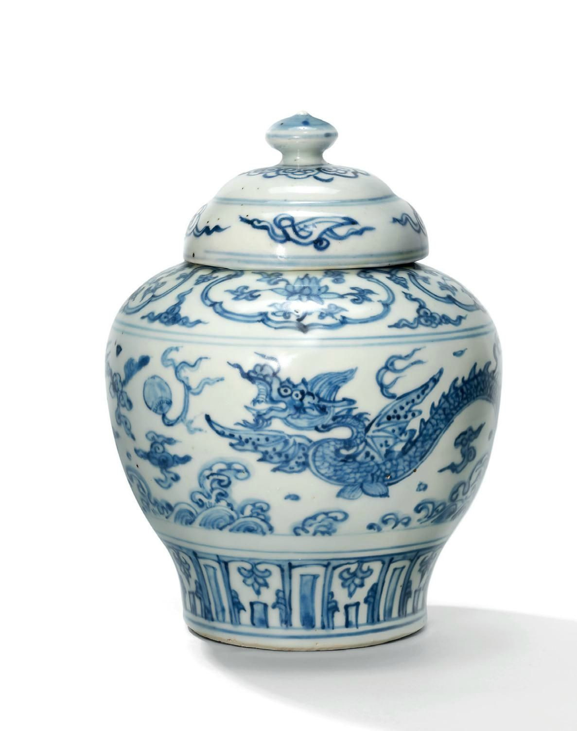 blue and white jars and vases of a blue and white dragon jar and cover ming dynasty 15th century pertaining to a blue and white dragon jar and cover ming dynasty 15th century