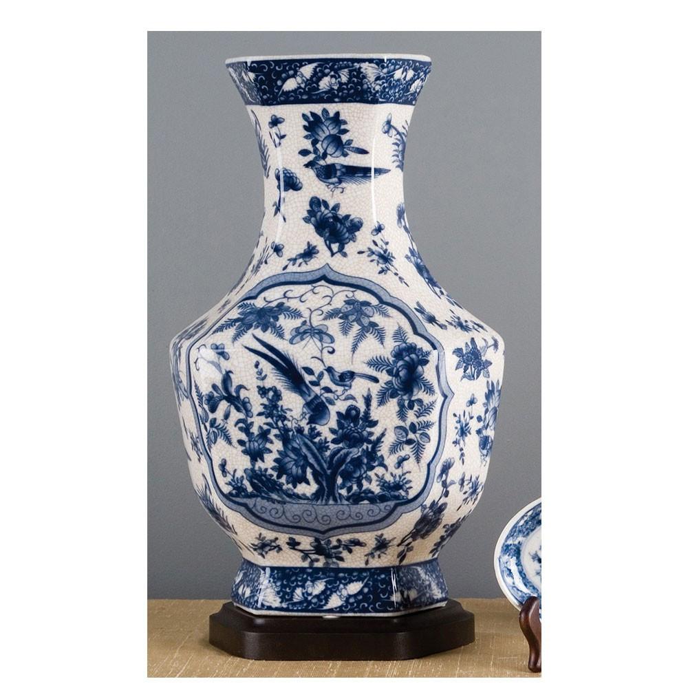 blue and white porcelain flower vase of blue white hex vase brass burl 10792 pertaining to blue white hex vase