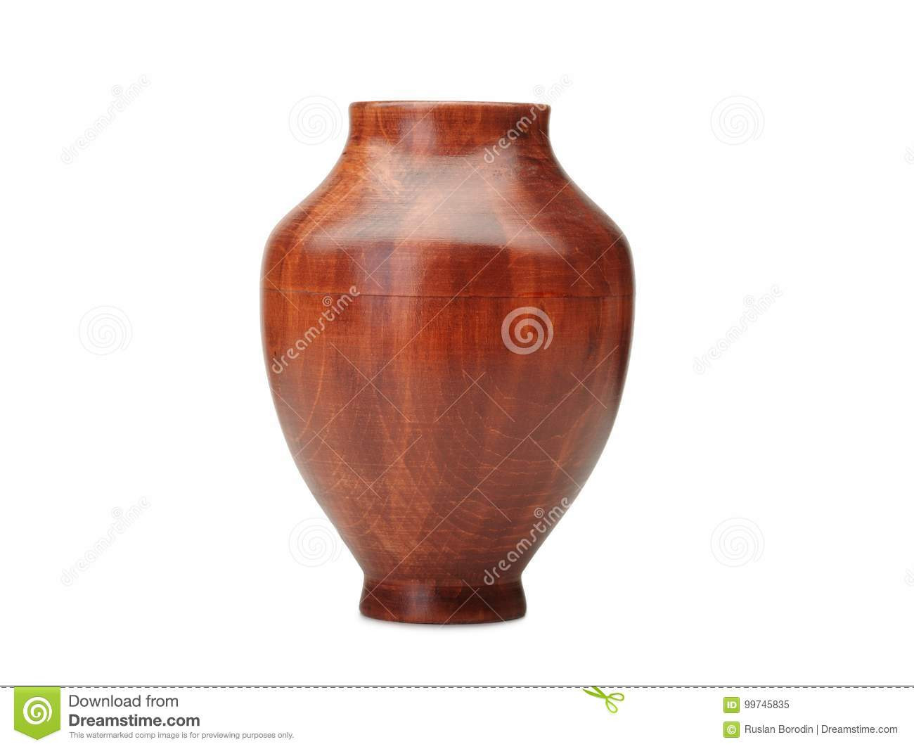 blue and white pottery vases of flower vase made of wood isolated on white background stock image with regard to download flower vase made of wood isolated on white background stock image im