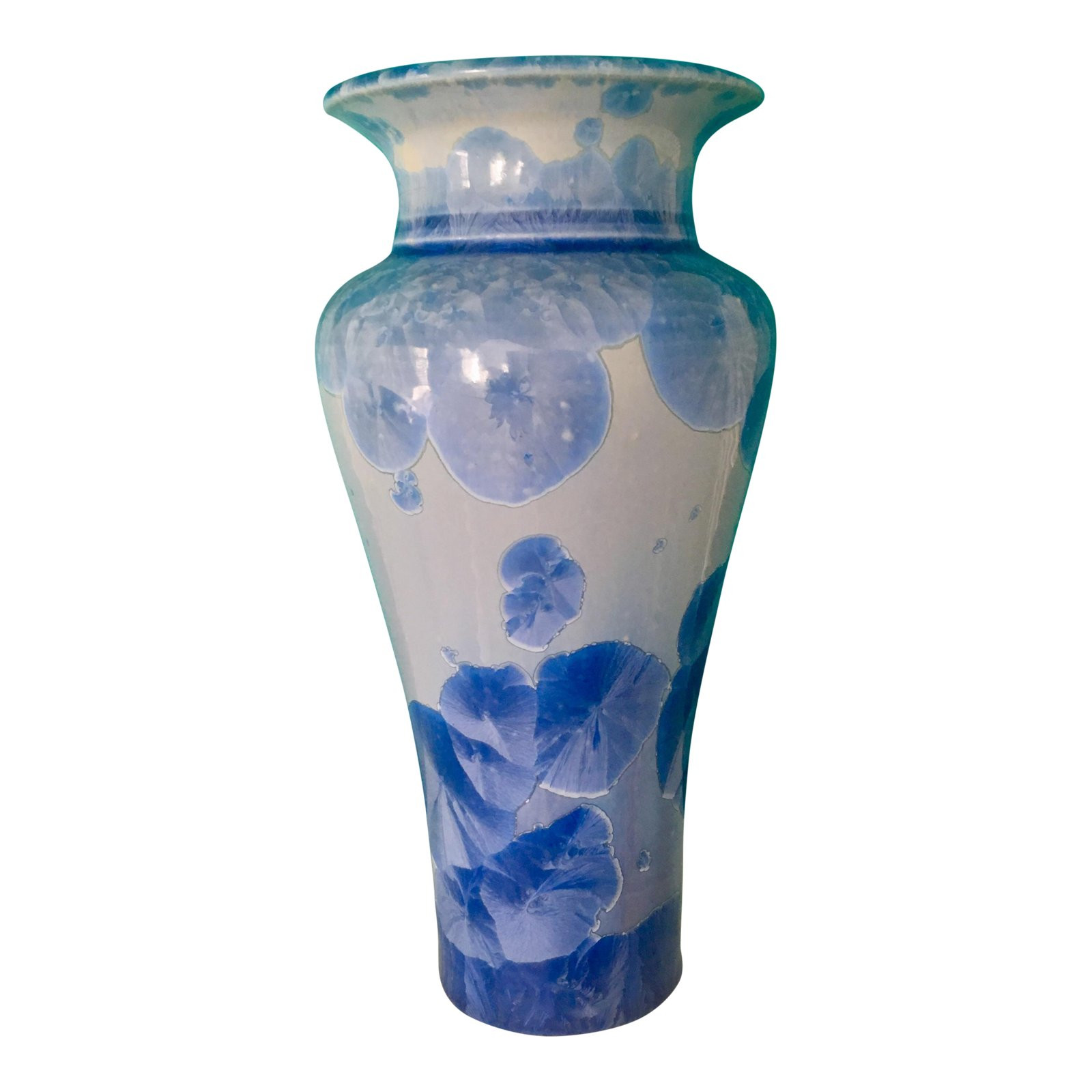 Blue and White Pottery Vases Of Js Feltman Crystalline Pottery Vase Chairish for Jands Feltman Crystalline Pottery Vase 4954