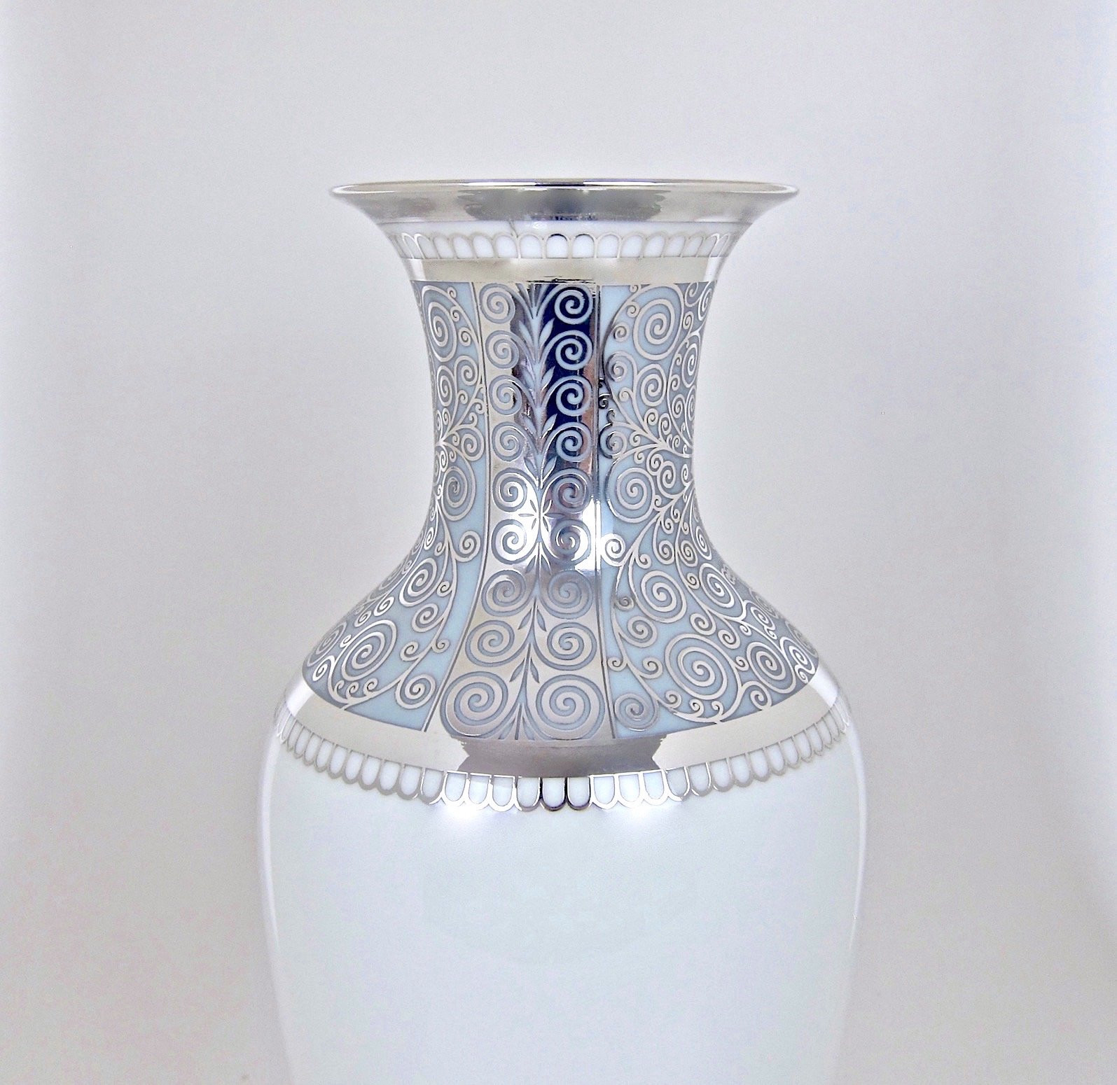 blue and white pottery vases of large rosenthal porcelain silver overlay vase at 1stdibs within rosenthal porcelain silver overlay vase 07 org