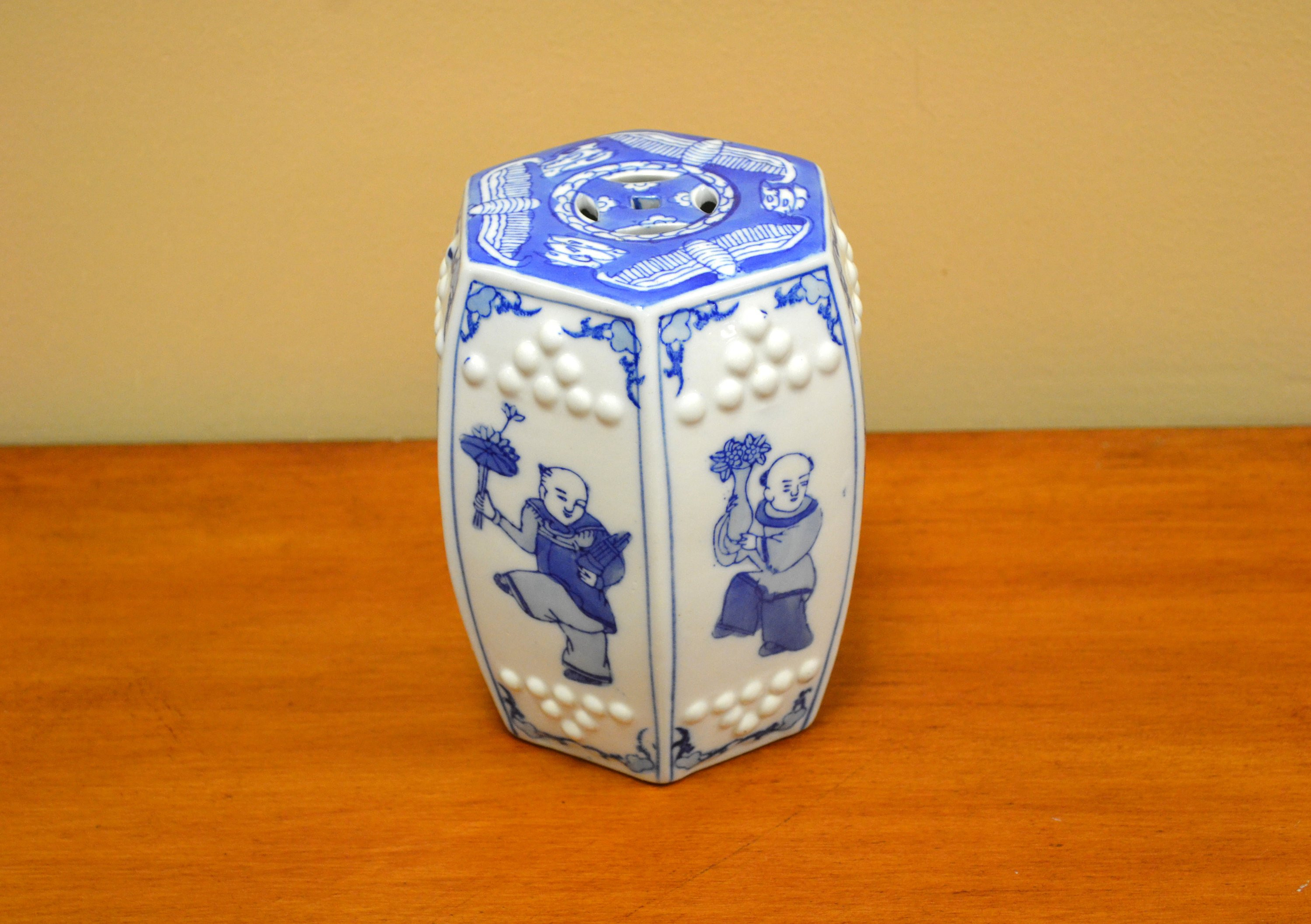 "blue and white urn vases of miniature chinese garden stool blue white etsy intended for dŸ""Žzoom"