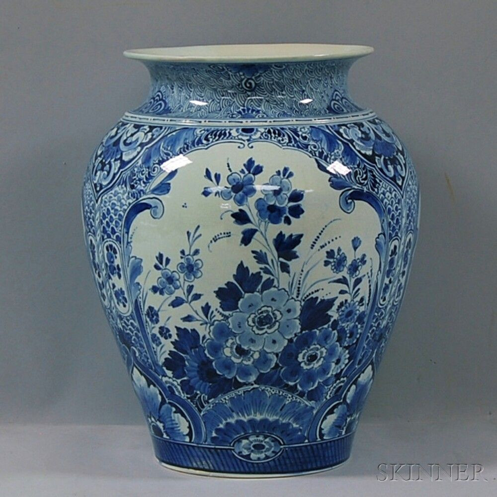 Blue Ceramic Vases Sale Of Large Blue and White Floral Decorated Delft Ceramic Vase Sale with Large Blue and White Floral Decorated Delft Ceramic Vase