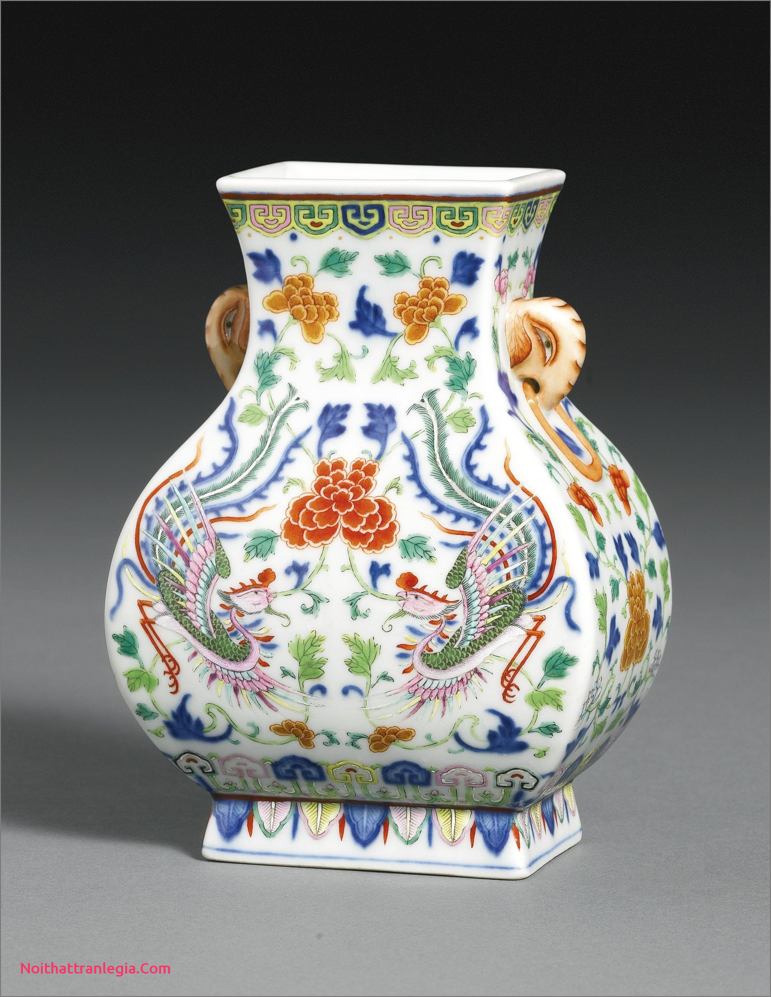 blue chinese porcelain vase of 20 chinese antique vase noithattranlegia vases design throughout a fine and rare underglaze blue polychrome enamel phoenix vase fangu qianlong seal mark and period
