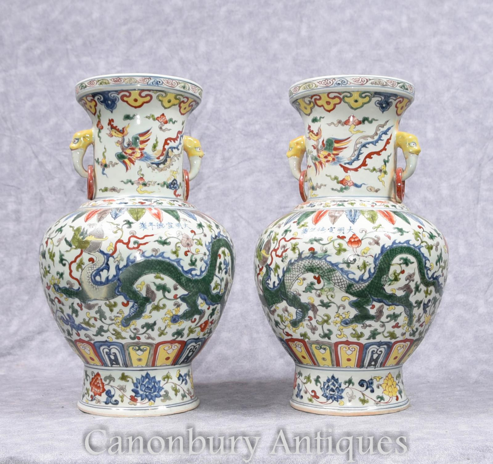 blue chinese porcelain vase of pair chinese qianlong porcelain vases dragon urns ceramic china ebay for piece description gorgeous pair of chinese qianlong style porcelain vases