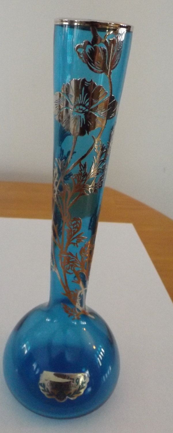 blue crystal vase of silver city glass company blue crystal bud vase silver overlay pertaining to silver city glass company blue crystal bud vase silver overlay by terishastreasures on etsy