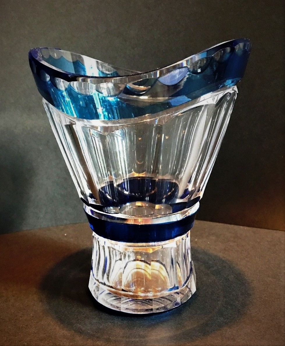 blue cut crystal vase of val saint lambert vase fay taille cg102 charles graffart pertaining to val saint lambert vase fay taille cg102 charles graffart catalogue 1950