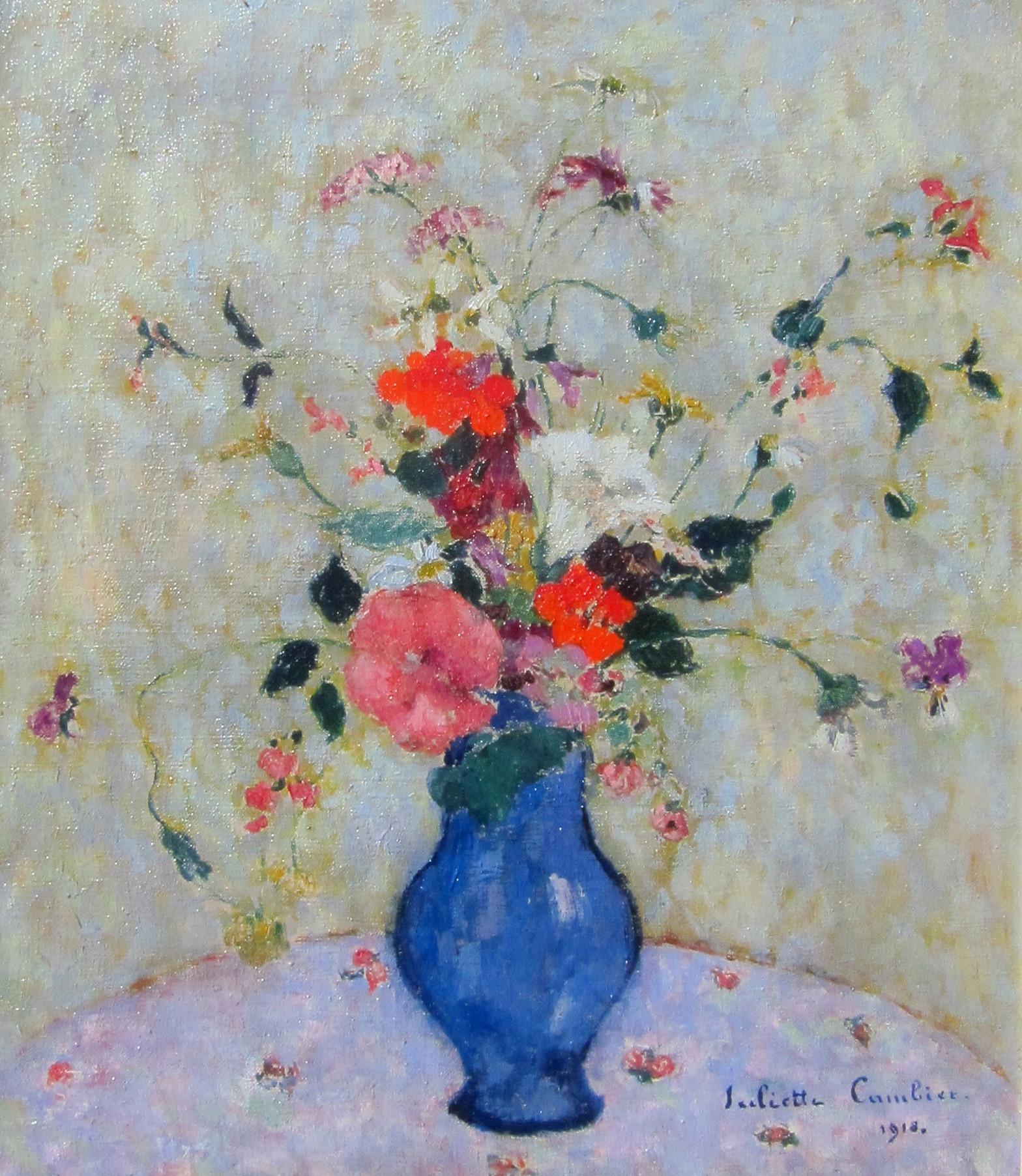 blue flowers in vase of juliette cambier summer flowers in a blue vase julian simon fine art pertaining to juliette cambier summer flowers in a blue vase