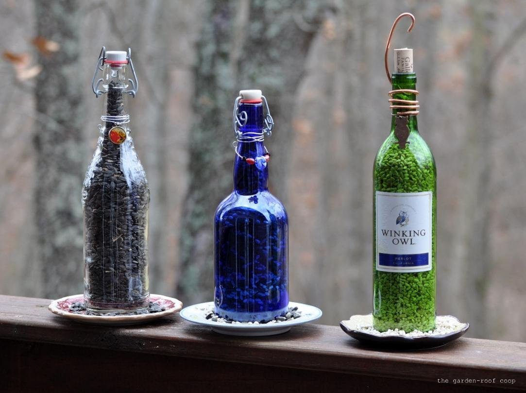 blue glass bottle vase of inspiring wine bottle crafts shared by creative diy enthusiasts within diy wine bottle bird feeders