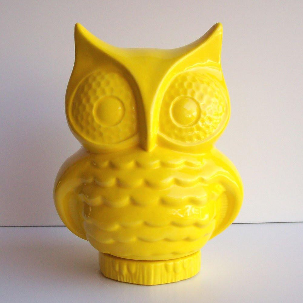 "blue glass owl vase of owl planter ceramic owl owl vase desk planter vintage etsy with regard to dŸ""Žzoom"