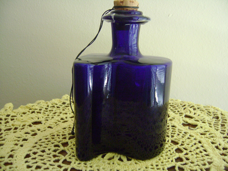 """blue glass owl vase of vintage kastrup holmegaard cobalt blue cologne bottle original etsy within dŸ""""Žzoom"""