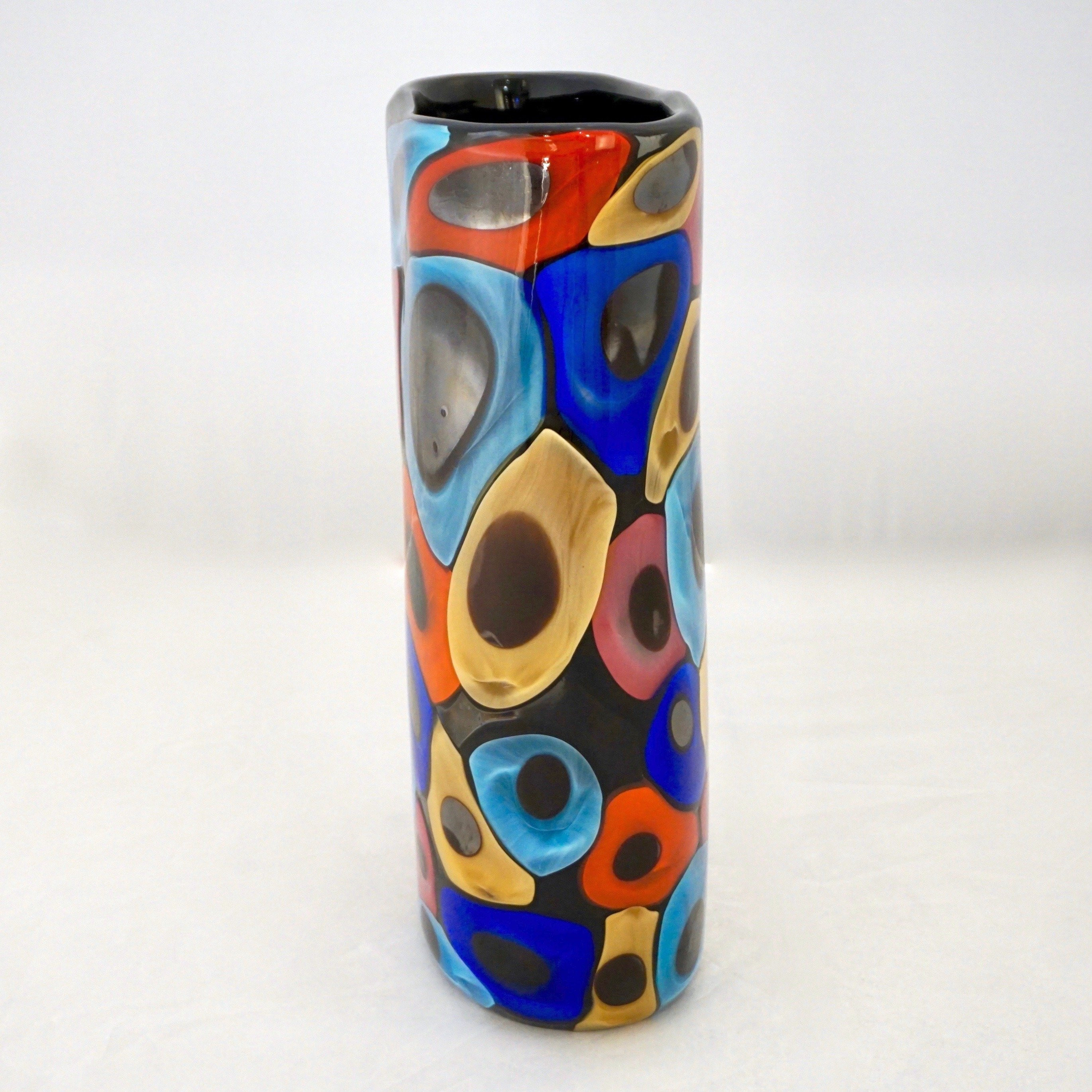 blue glass vase set of camozzo 1990 modern black azure blue red pink yellow murano glass regarding camozzo 1990 modern black azure blue red pink yellow murano glass vases for sale at 1stdibs