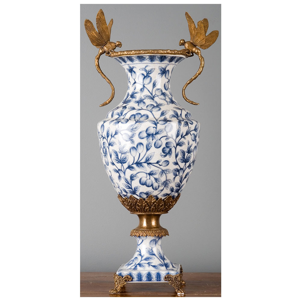 blue glass vase with gold of porcelain vase bronze dragonfly blue brass burl 14051 regarding od 14051 1