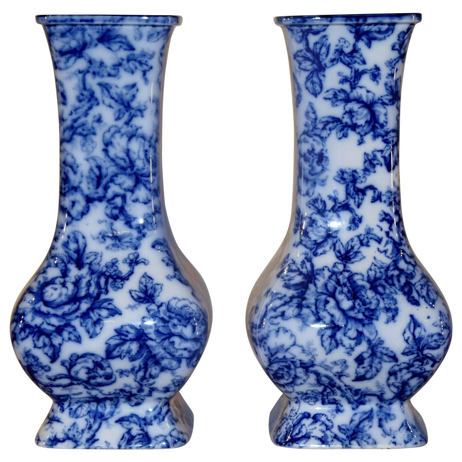 blue glass vases for sale of 19th century pair of cavendish vases my 1stdibs favorites within 19th century pair of cavendish vases