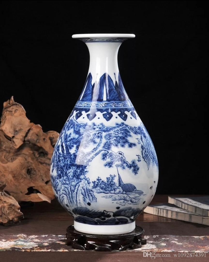 blue glass vases for sale of 2018 ceramic vase hand painted blue and white porcelain home regarding colorblue and white size15cm 37cm sales model mix order materialkaolin classic chinese style antique style classic chinese archaize style