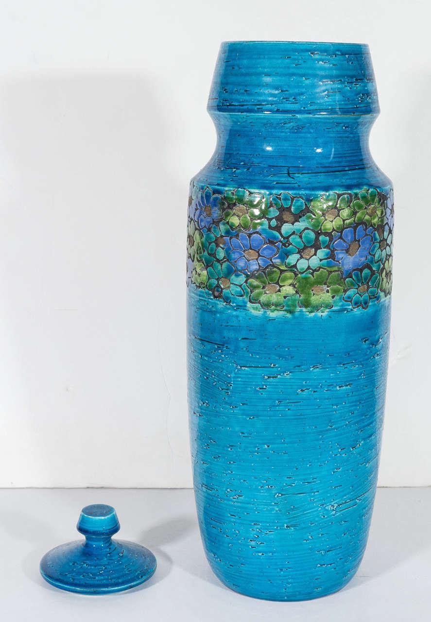 blue mason jar vase of rosenthal netter blue ceramic lidded jar at 1stdibs inside mid 20th century rosenthal netter blue ceramic lidded jar for sale