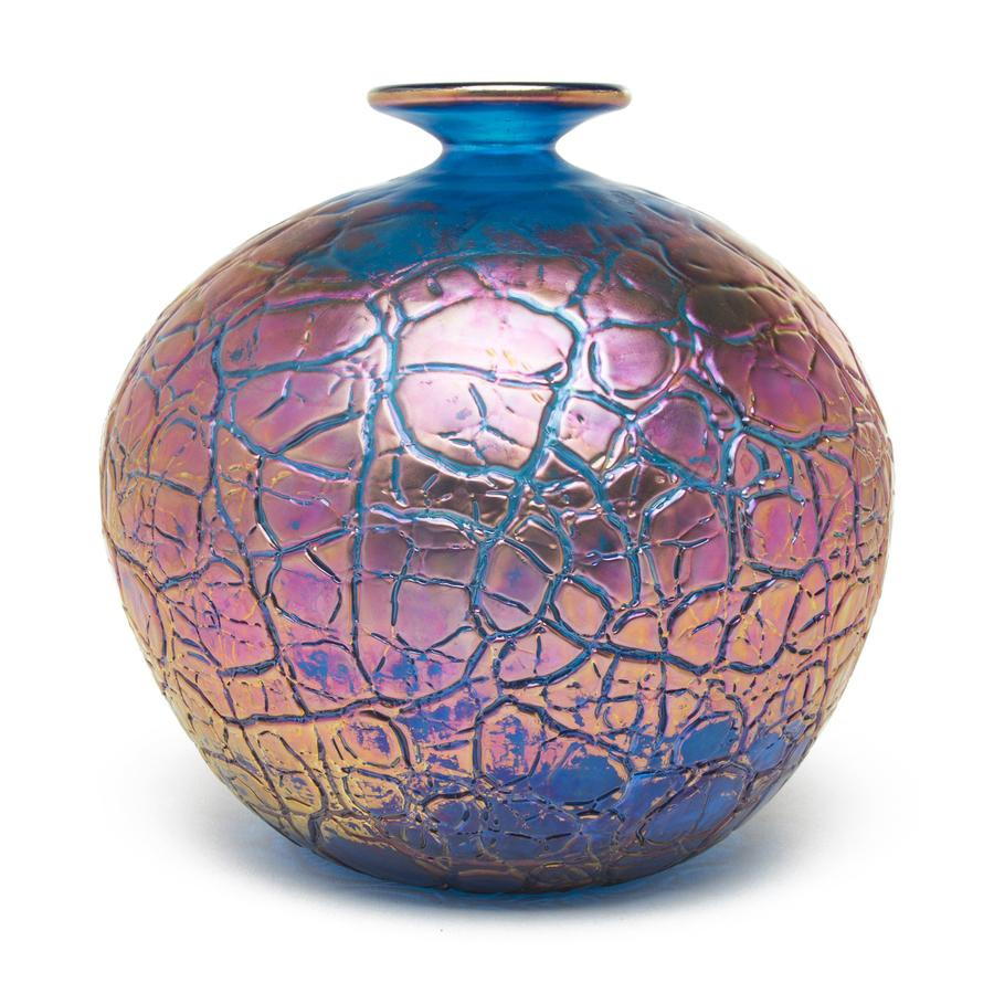 blue swirl glass vase of home decor page 2 the getty store intended for vizzusi art glass vase copper tectonic