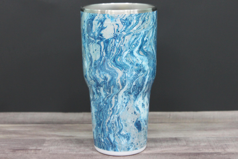 blue swirl glass vase of swirl dipped tumbler hydro dipped tumbler blue and silver swirl for gallery photo gallery photo gallery photo