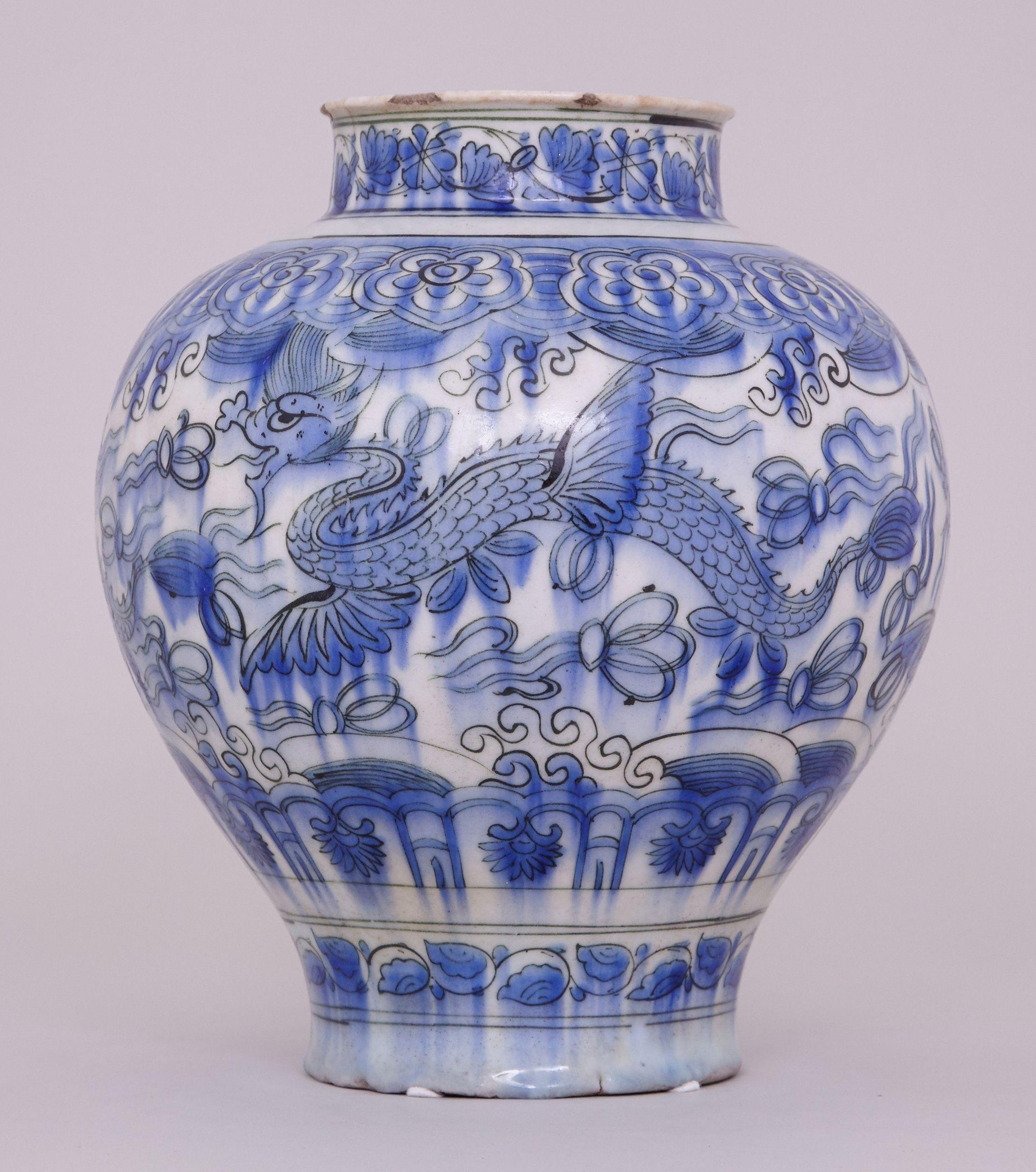 blue terracotta vase of white pottery vase elegant a blue and white persian safavid jar 17th with white pottery vase elegant a blue and white persian safavid jar 17th century