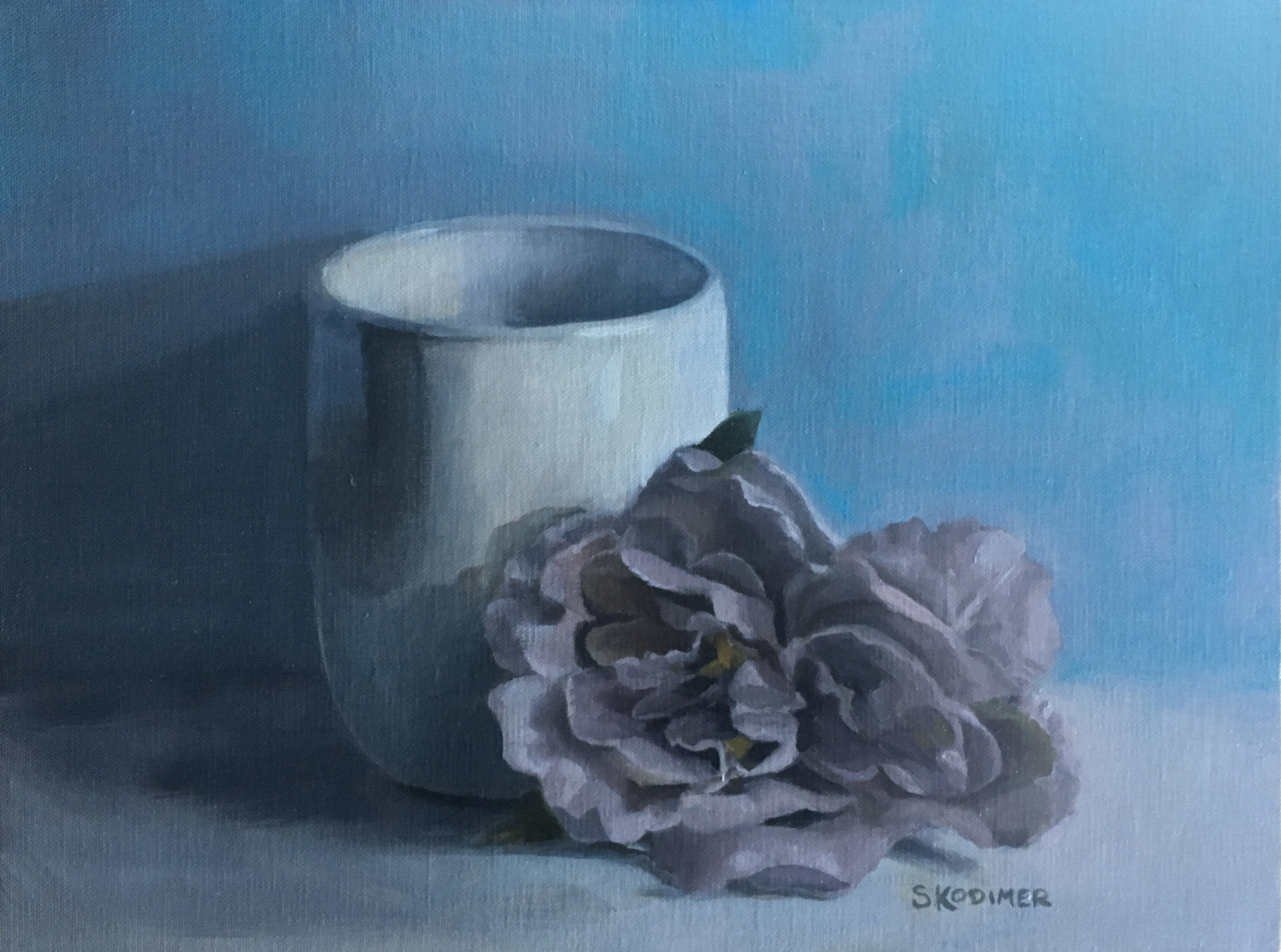 Blue Vase Flowers Painting Of White Vase with Purple Flower Crow and Lilac with Regard to White Vase with Purple Flower