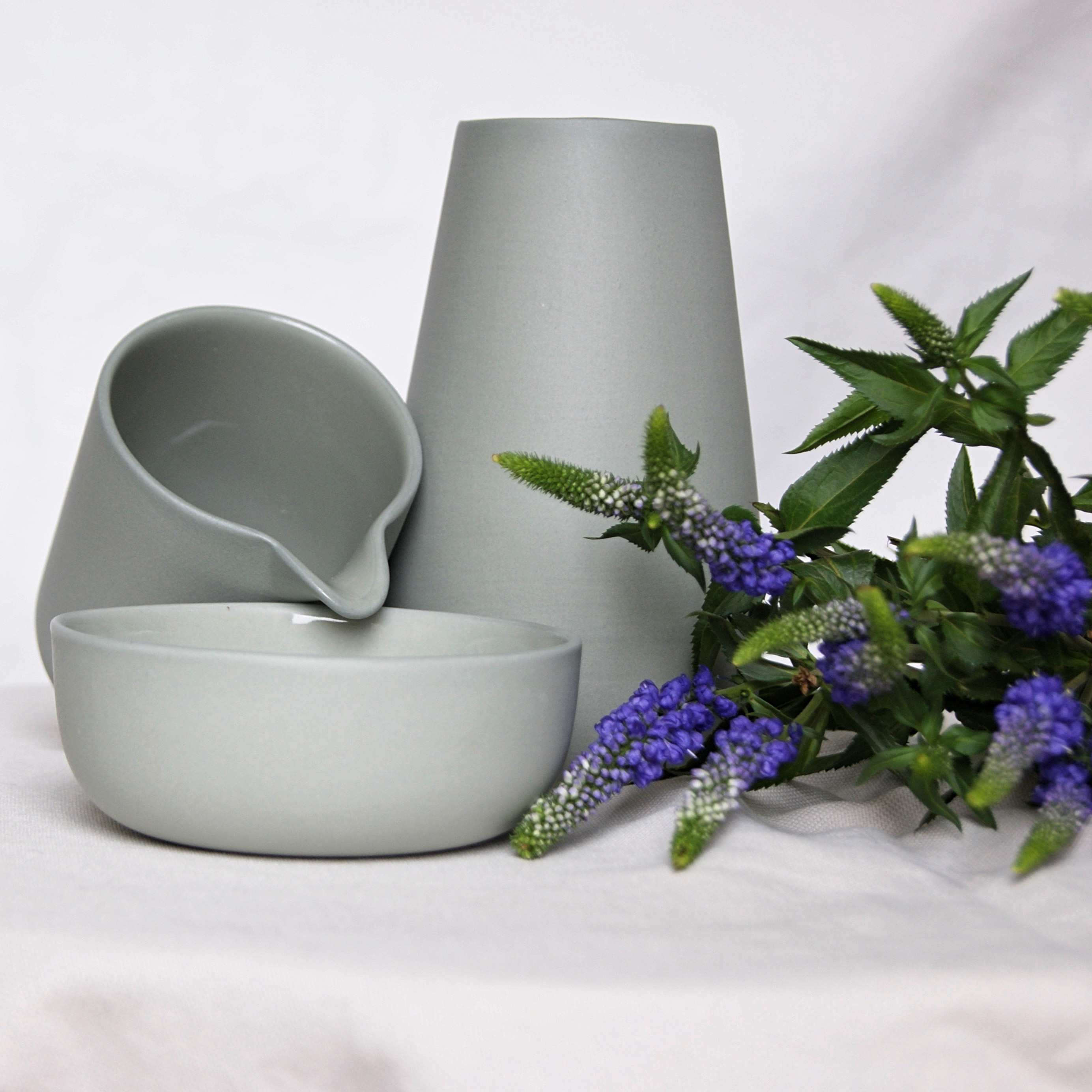 Blue Vase Juniper Of Vase Light Grey Eadie Vase Sue Pryke Home Of Juniper Home Decor Pertaining to Light Grey Sue Pryke Earthernware Vase Creamer Bowl