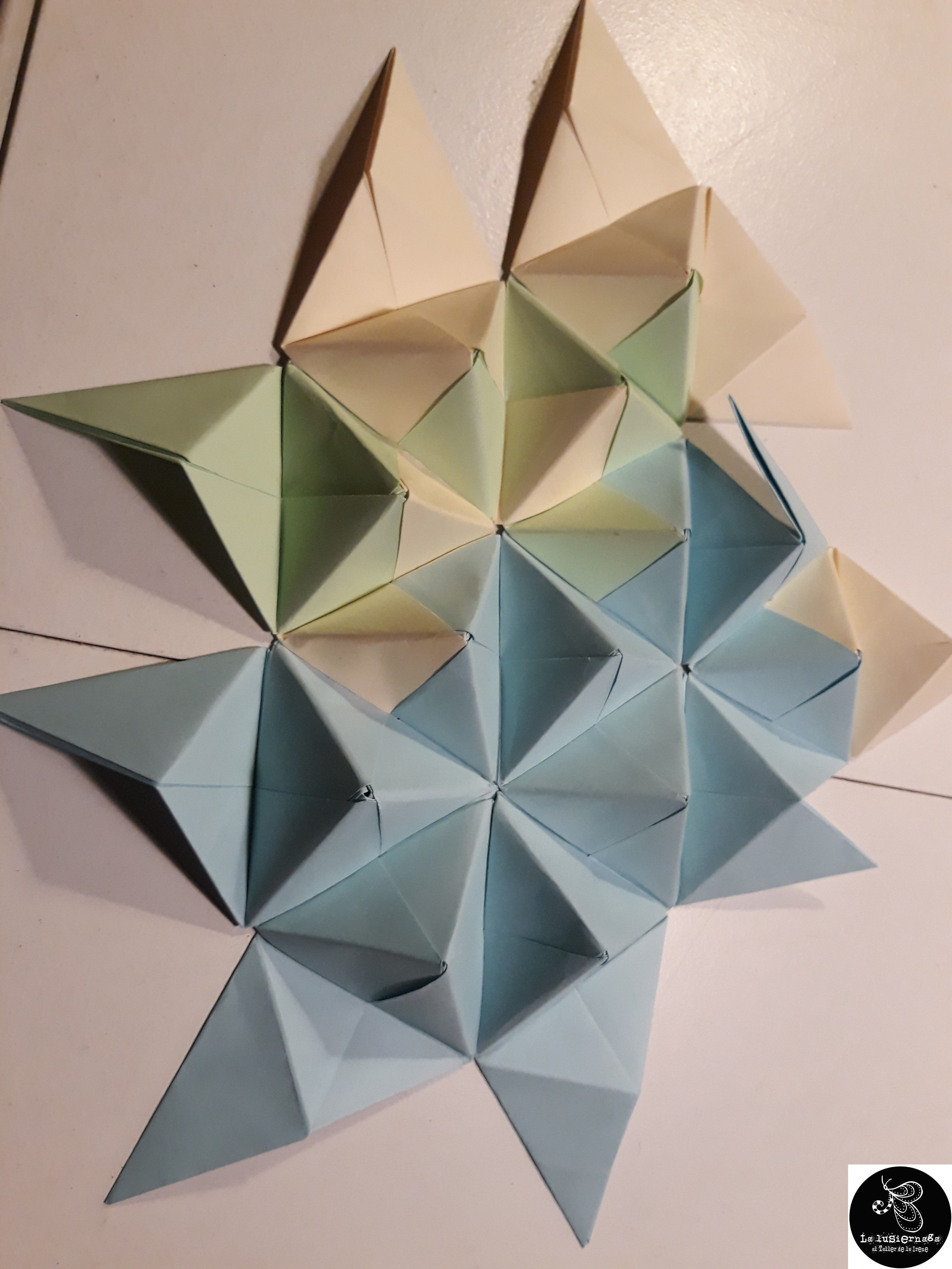 blue vase wall art of origami wall decoration lovely origami modular mural wall art for origami wall decoration lovely origami modular mural wall art