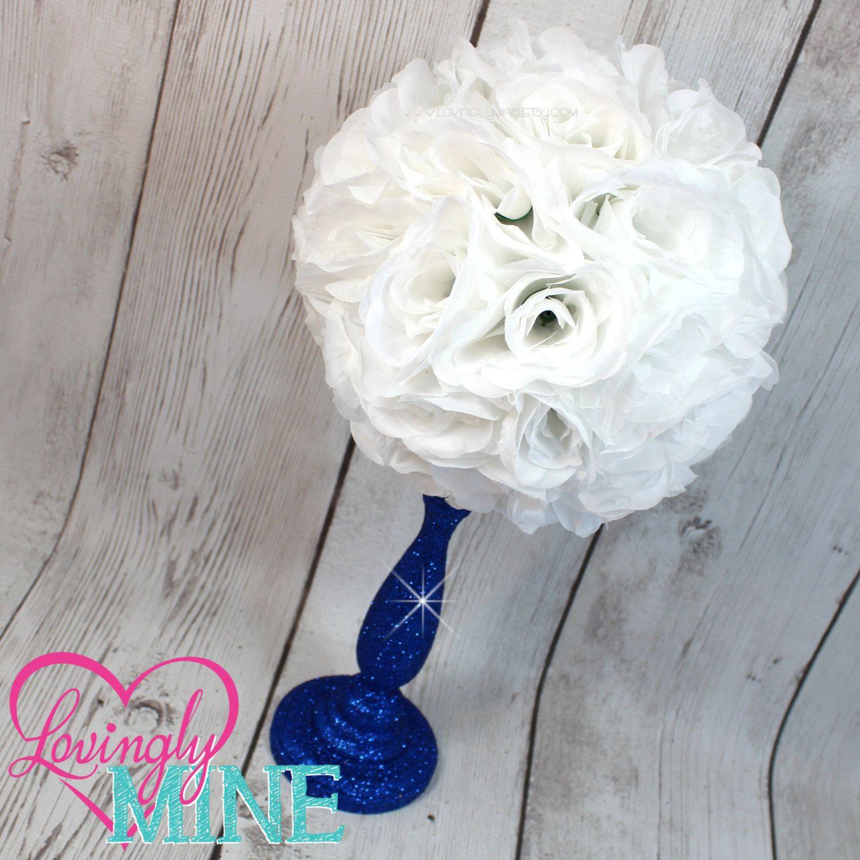 blue vases for centerpieces of centerpiece white rose pomander glitter royal blue vase royal baby regarding centerpiece white rose pomander glitter royal blue vase royal baby shower birthday wedding