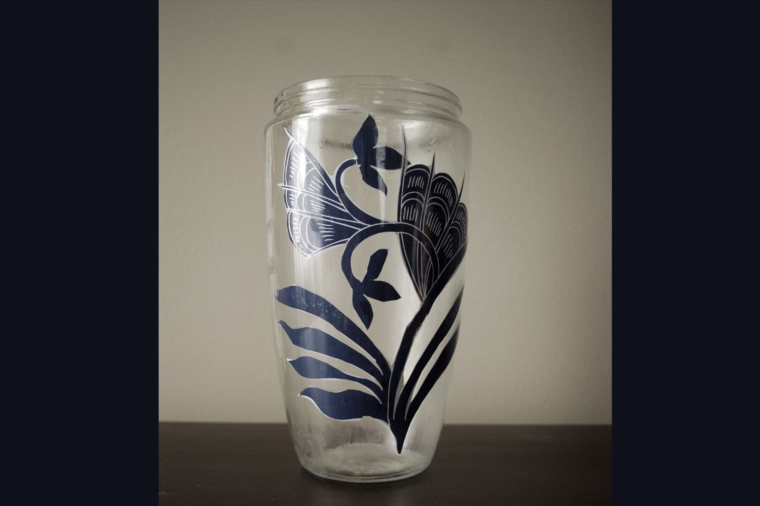 blue white ginger jar vases of asian influence decoupaged ginger jar in 1459b 57979a4a5f9b58461f26aeac