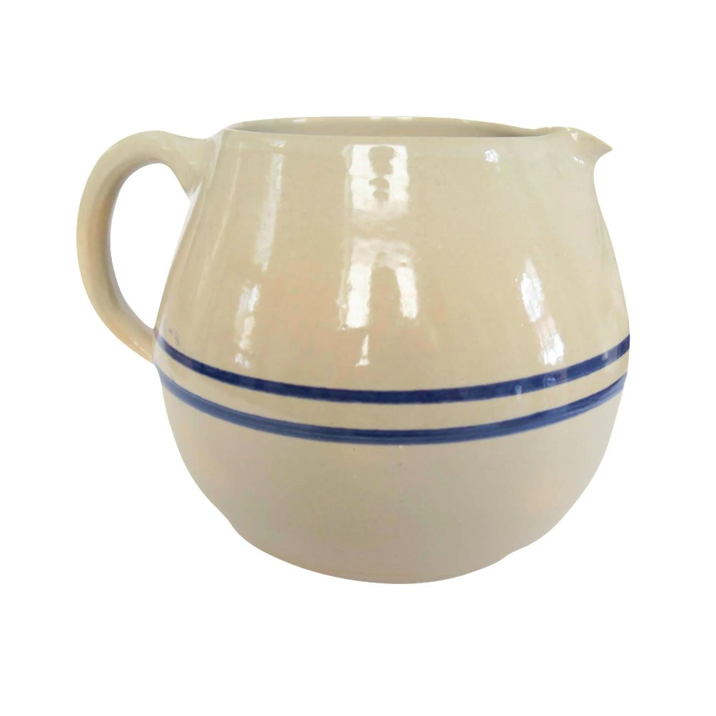 blue white striped vase of vintage blue white striped stoneware pottery crock pitcher chairish throughout vintage blue white striped stoneware pottery crock pitcher 9450