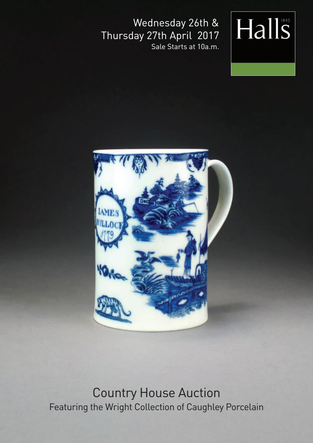 blue willow vase of halls auctioneers by jamm design ltd issuu regarding page 1
