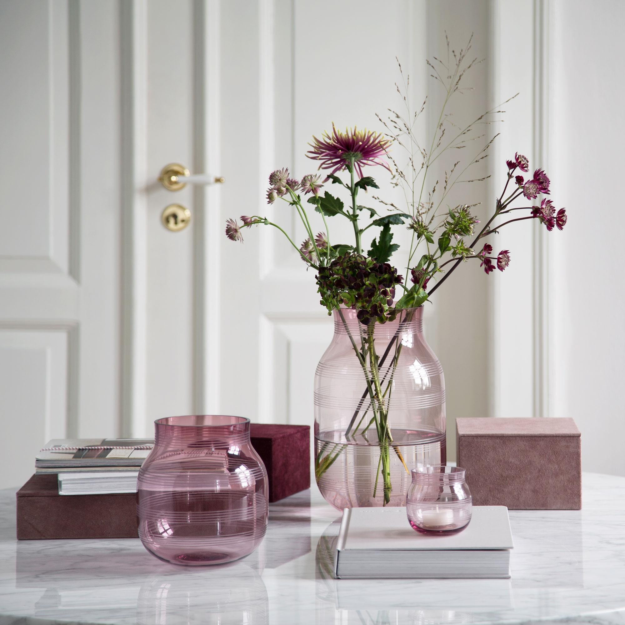 blush pink glass vase of ka¤hler omaggio glass vase h 17cm ambientedirect throughout exclusive sale only for styleclub members