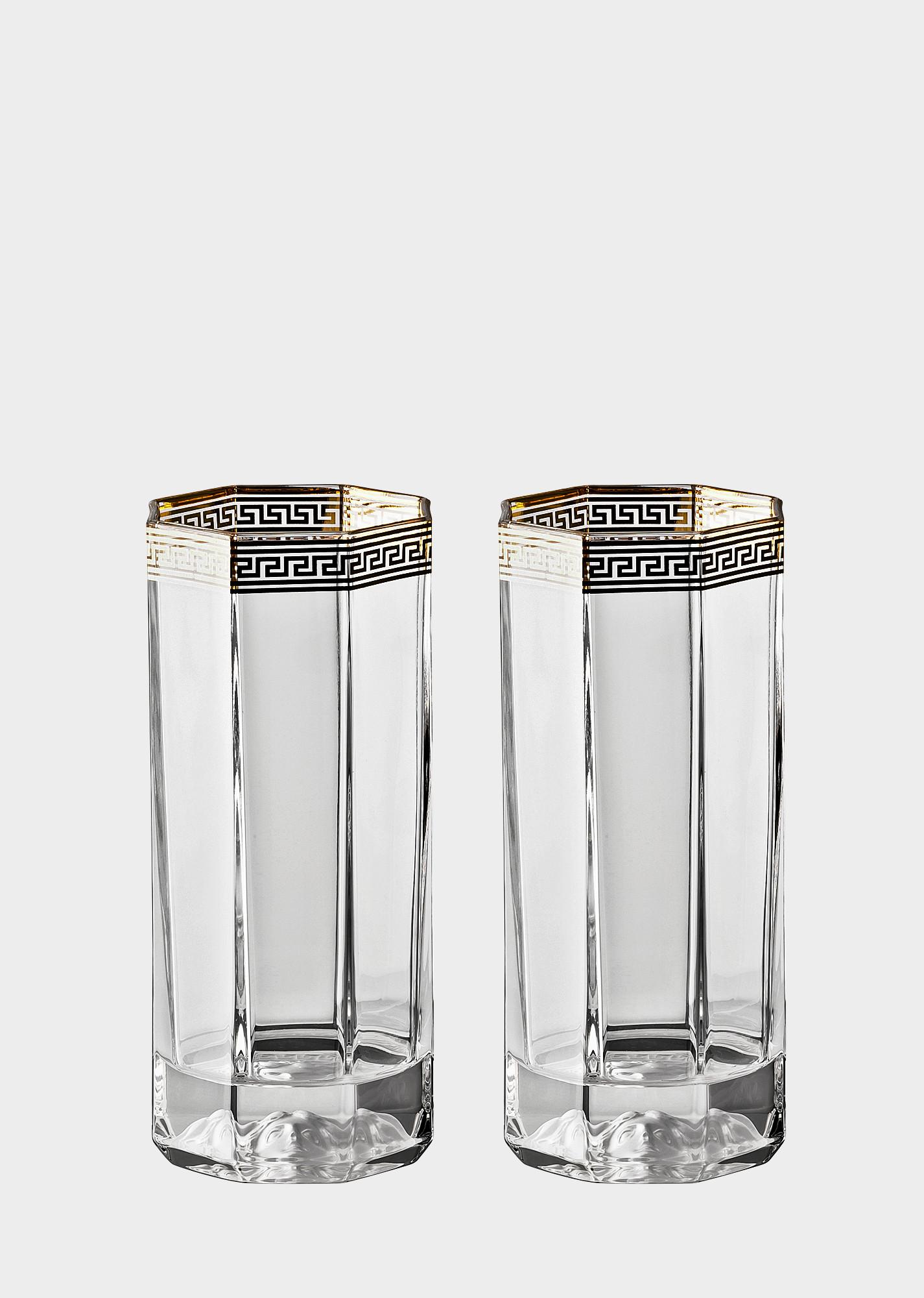 bohemia crystal vase price of versace home luxury glass crystal official website pertaining to 90 n48874 n110300 n2066 20 medusadorgp2longdrink glassandcrystal versace online store 4 5