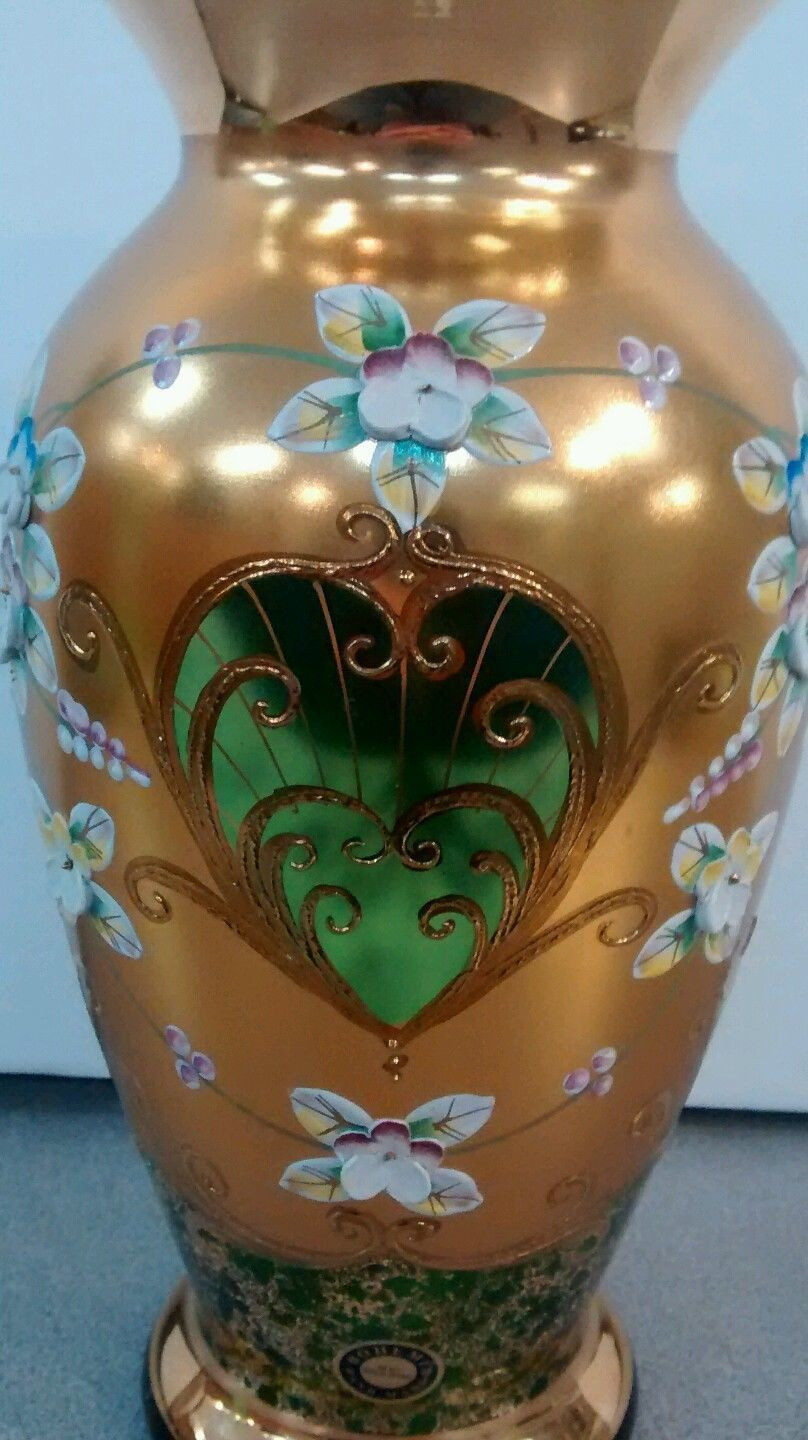 bohemian glass vase of bohemian glass enamel painted czech glass high enamel pinterest throughout bohemian glass enamel painted