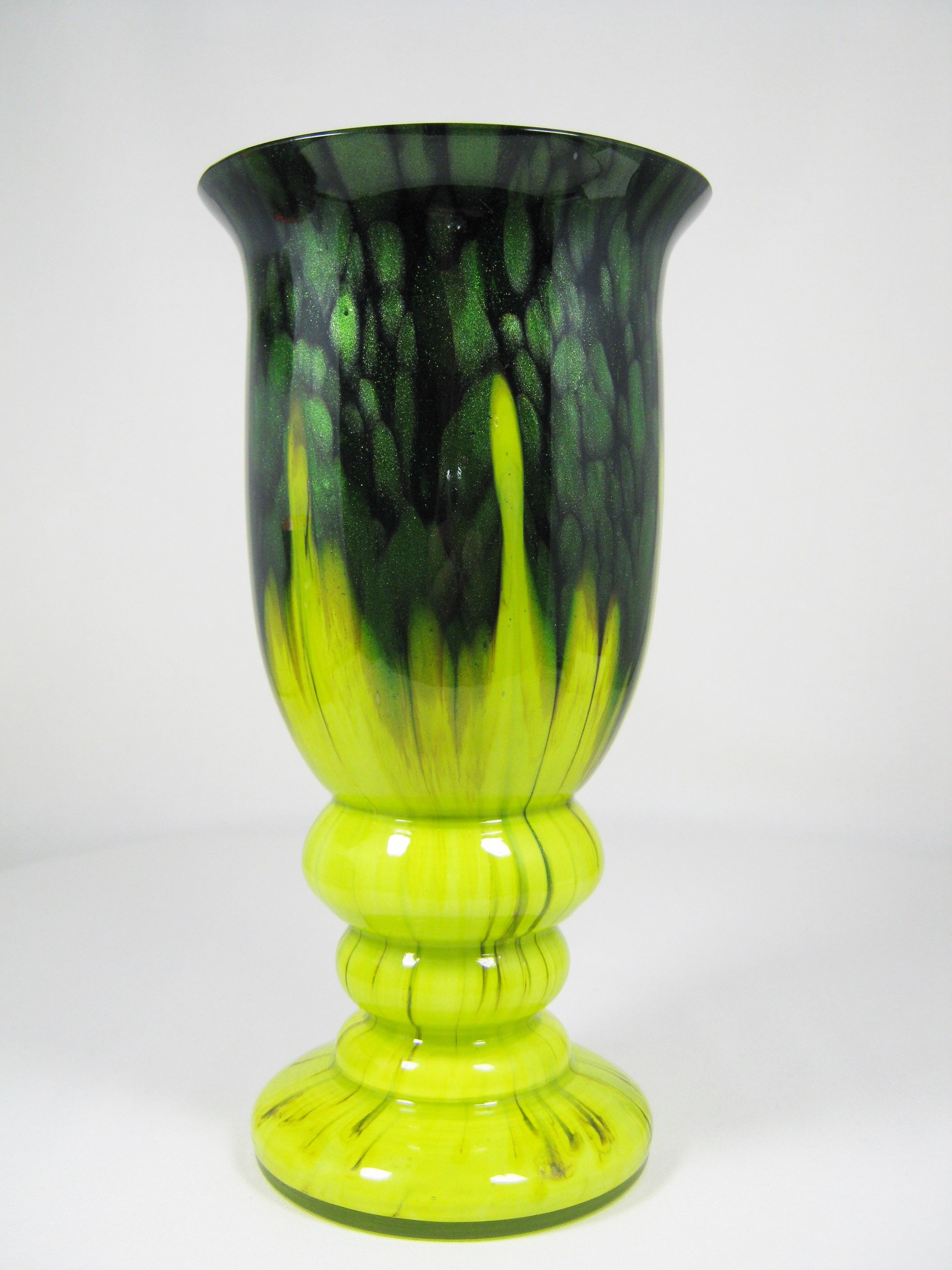 bohemian glass vase of czech art deco glass vase with green adventurine and chartreuse pertaining to czech art deco glass vase with green adventurine and chartreuse yellow base on an amethyst ground ca 1920s 30s ruckl