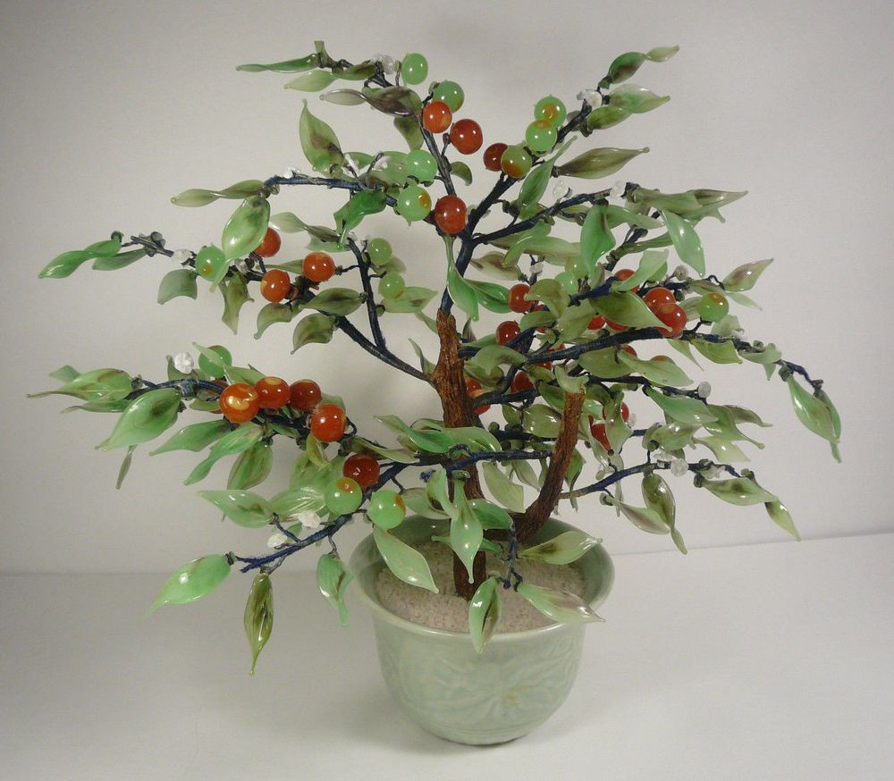 bonsai tree vase of vintage chinese glass bonsai orange persimmon tree good luck in 2018 within vintage chinese glass bonsai orange persimmon tree good luck