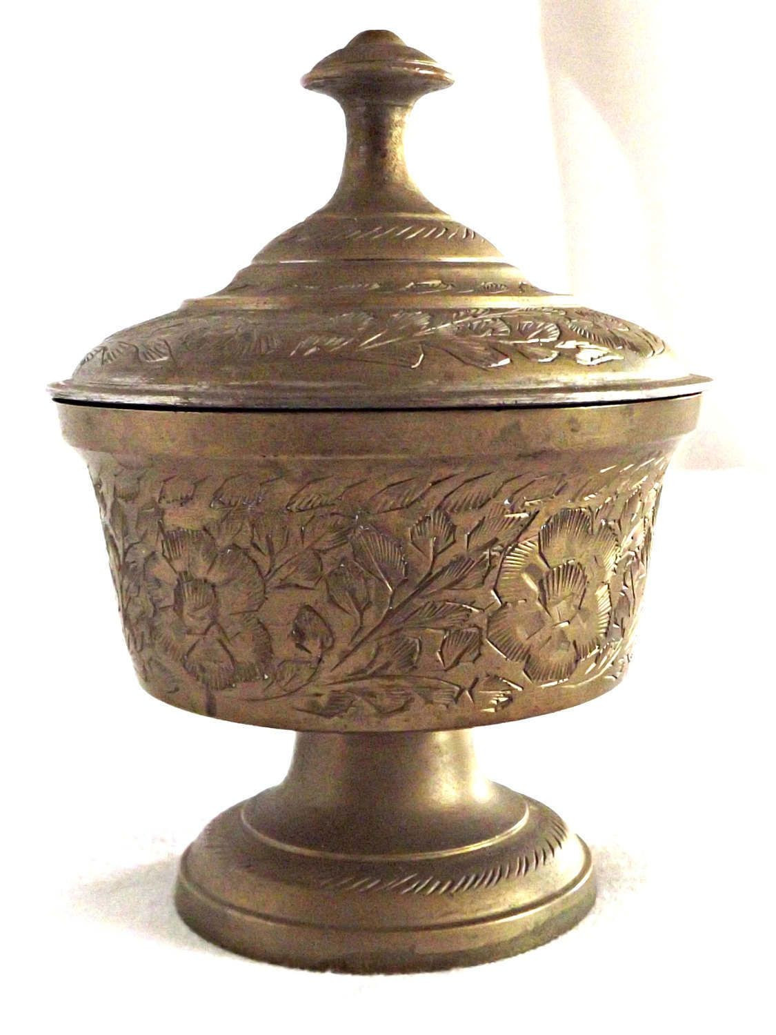 brass bud vase india of etched brass lidded container brass storage pot brass jar with lid throughout etched brass lidded container brass storage pot brass jar with lid retro brass home decor by agedwithgracevintage on etsy