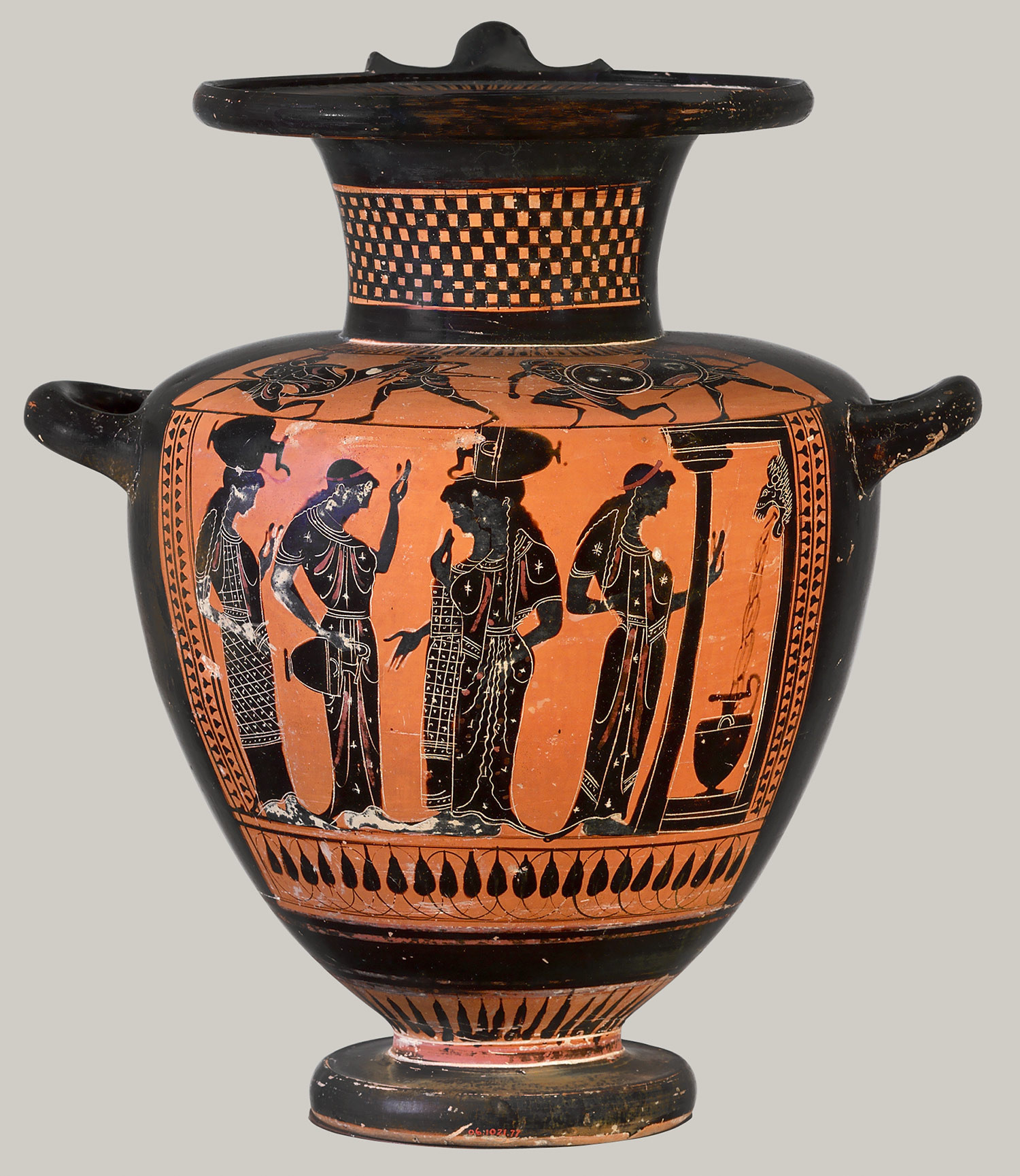 bristol glass vase of women in the classical world classical studies libguides at with women chatting and filling their water jars terracotta hydria water jar ca 510 500 b c black figure