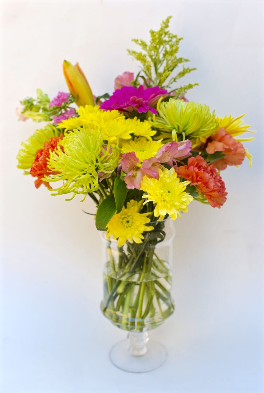 Broken Glass Vase Filler Of Grocery Store Flowers From Blah to Beautiful Make Life Lovely for How to Make A Flower Arrangment From Grocery Store Flowers