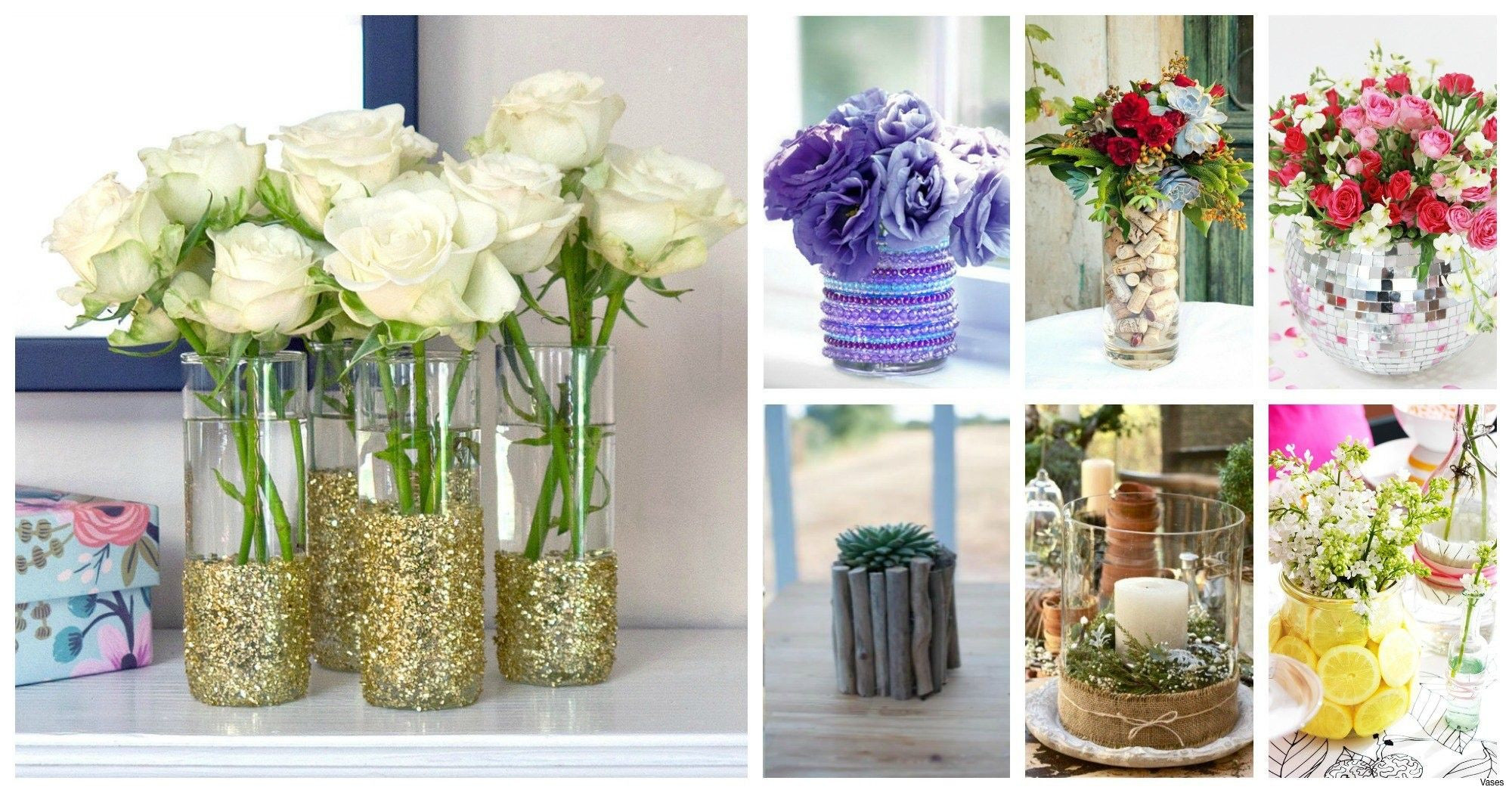 24 attractive Broken Glass Vase