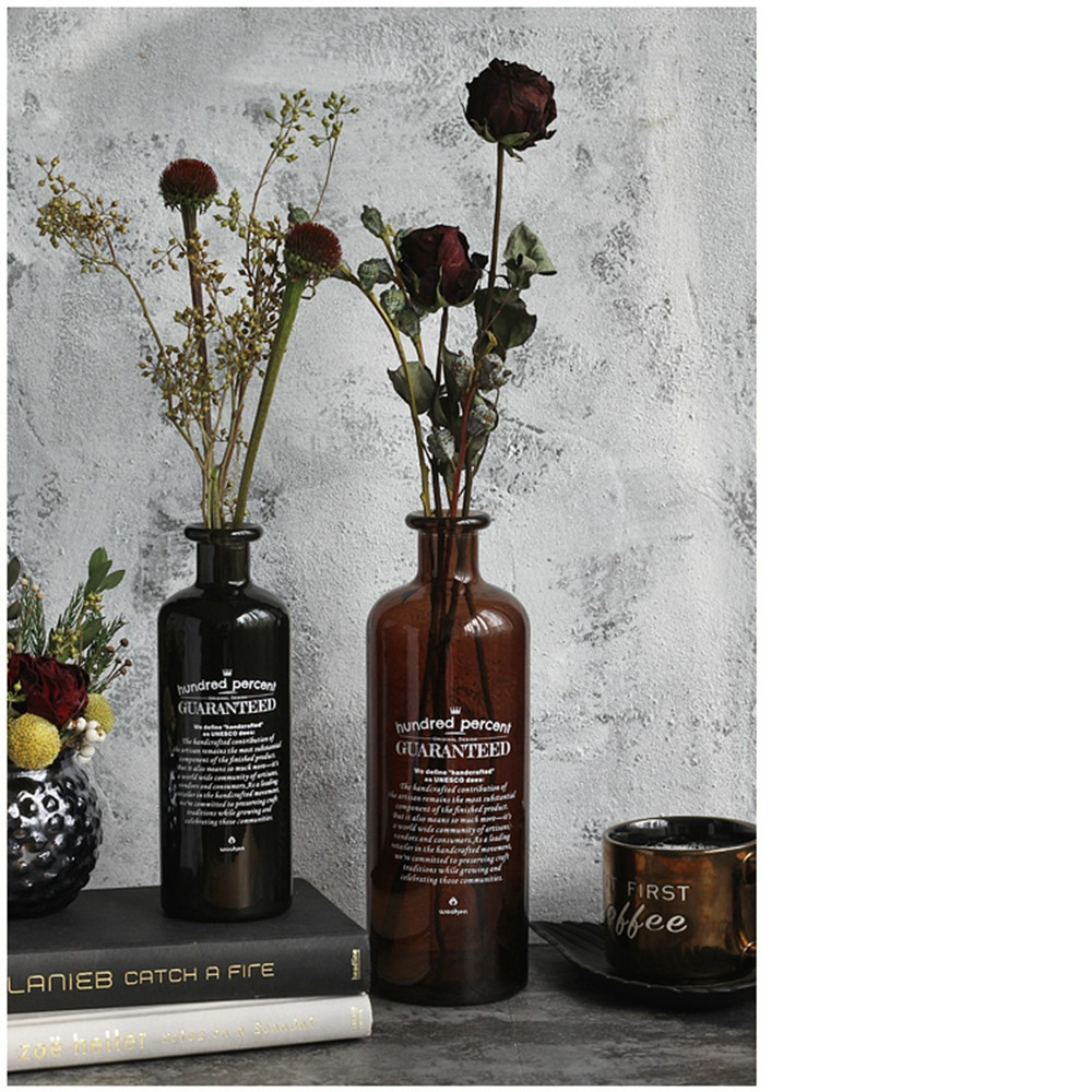 brown glass bottle vase of retro black white brown chic glass storage jar bottle nordic throughout 1 storage bottle